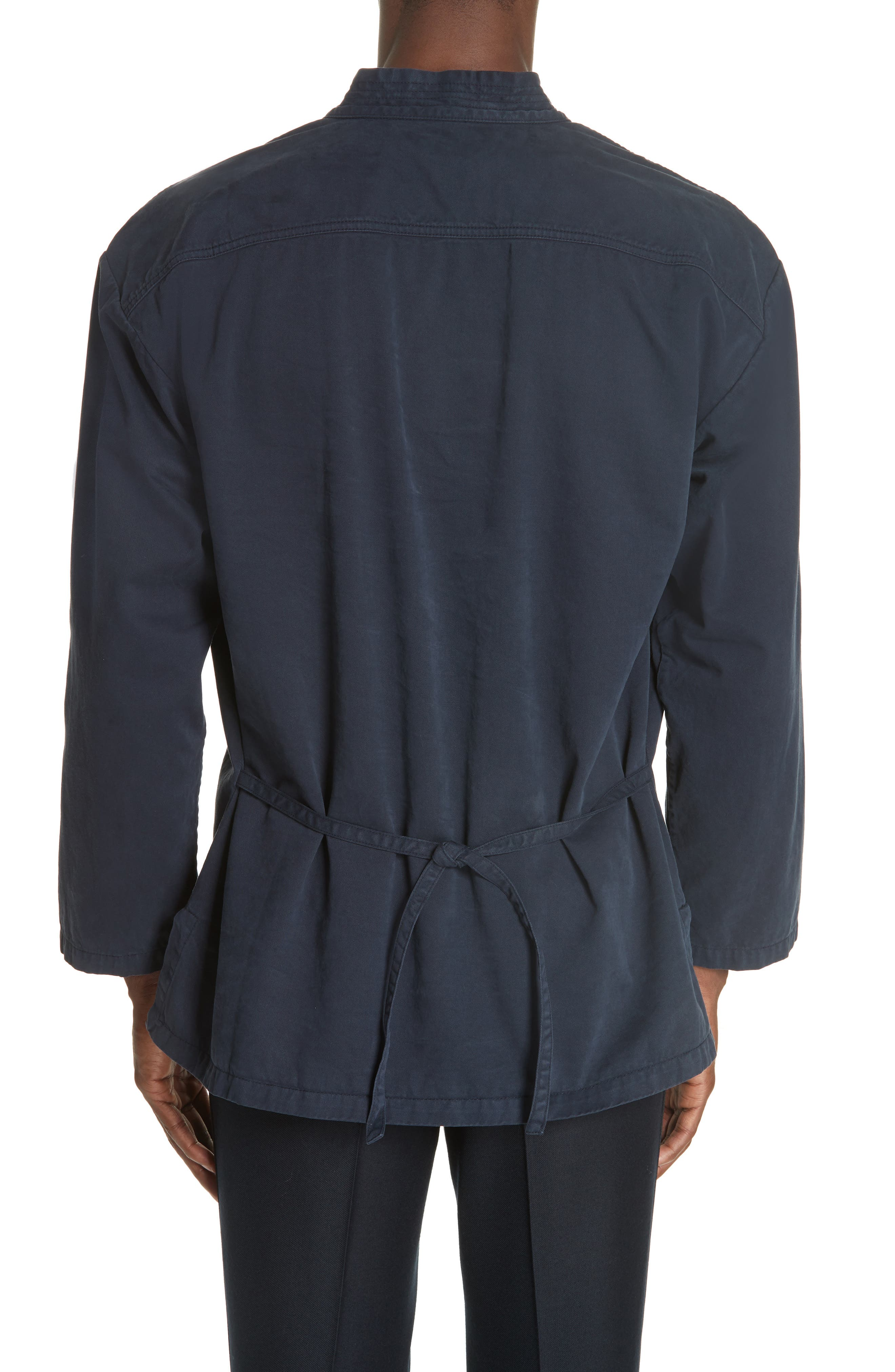 Canis Bis Kimono Pullover,                             Alternate thumbnail 2, color,                             NAVY 509