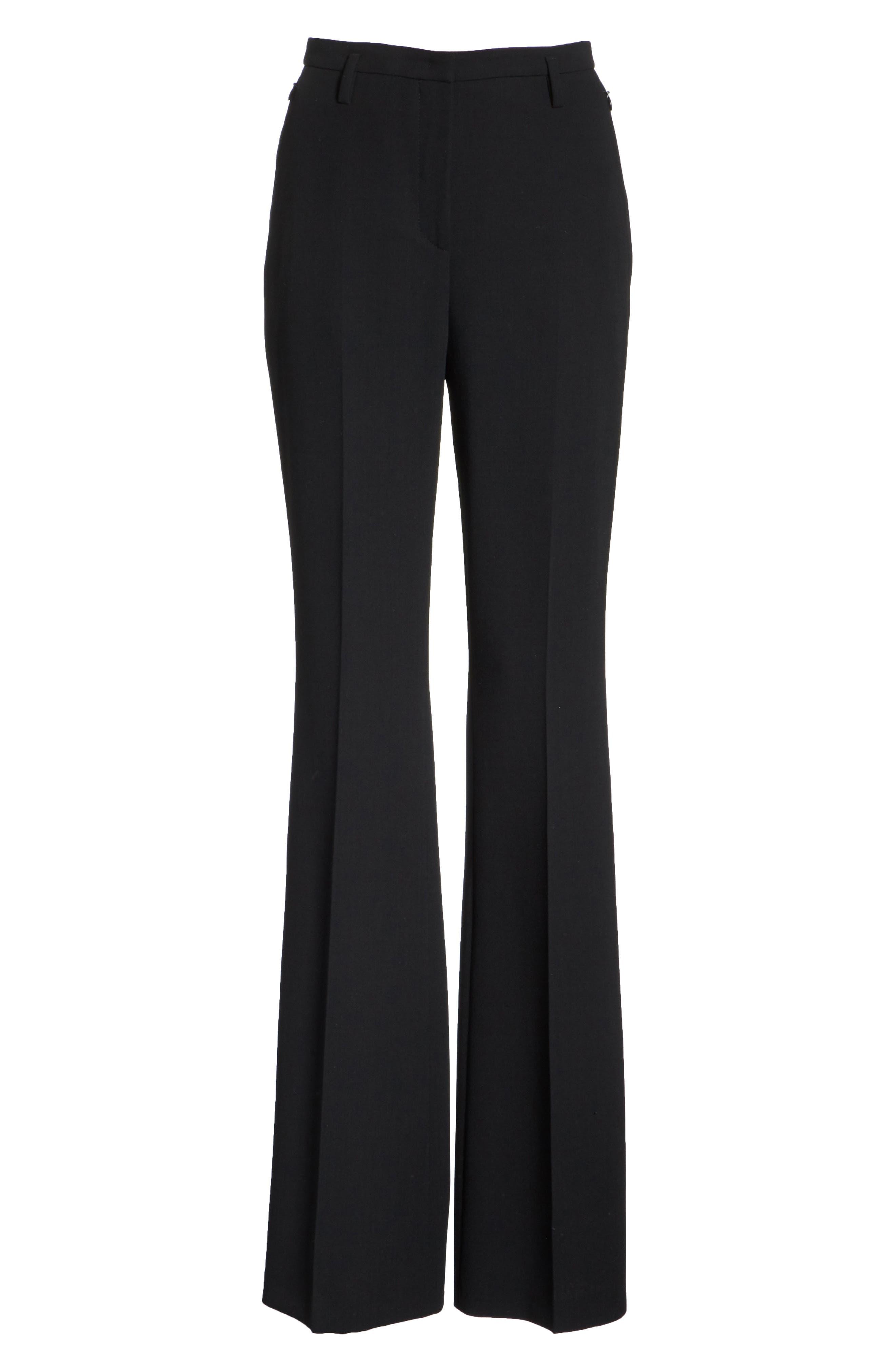 Double Face Pencil Skirt,                             Alternate thumbnail 6, color,                             BLACK