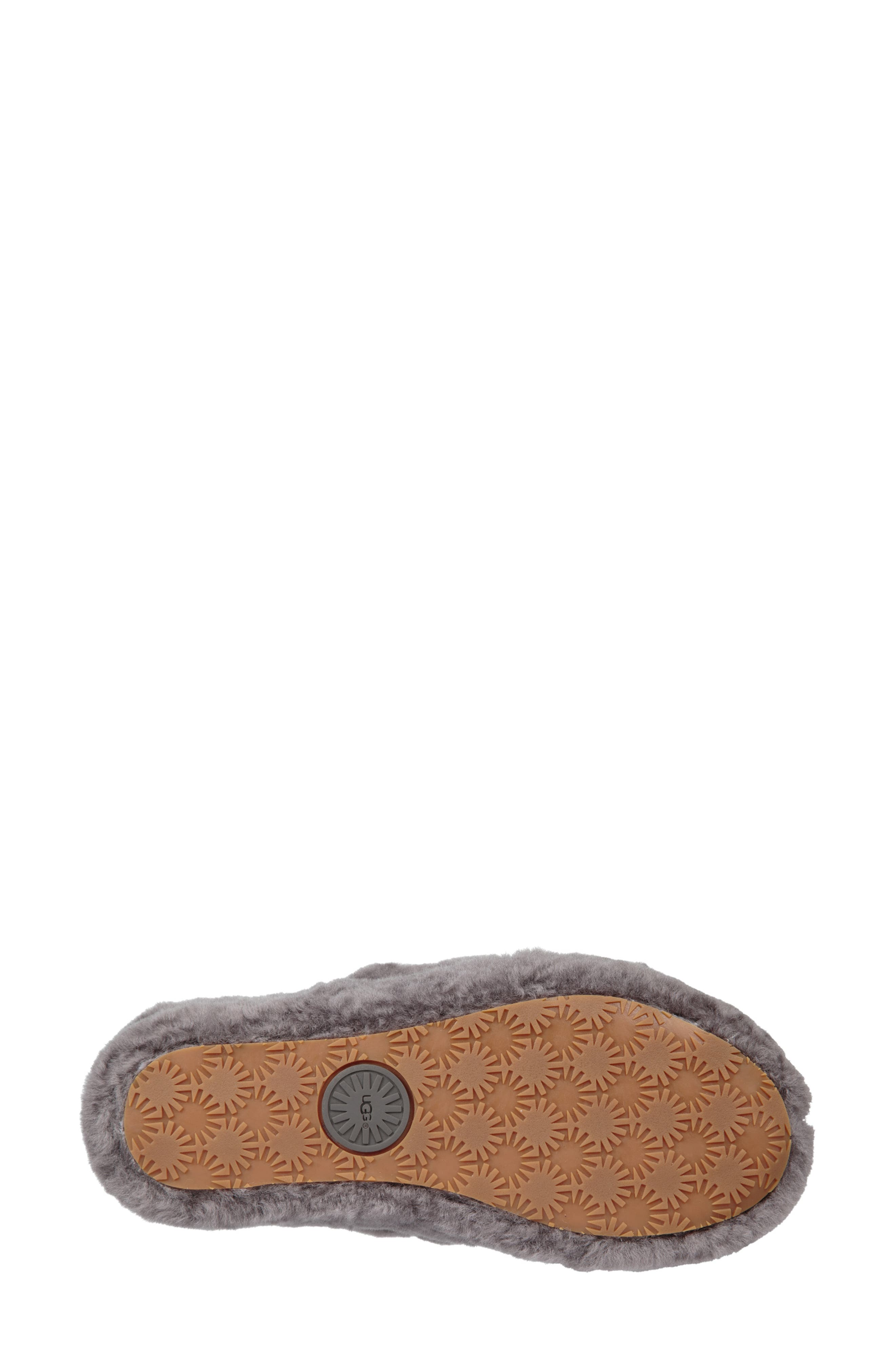 Fluff Yeah Genuine Shearling Slipper,                             Alternate thumbnail 5, color,                             CHARCOAL
