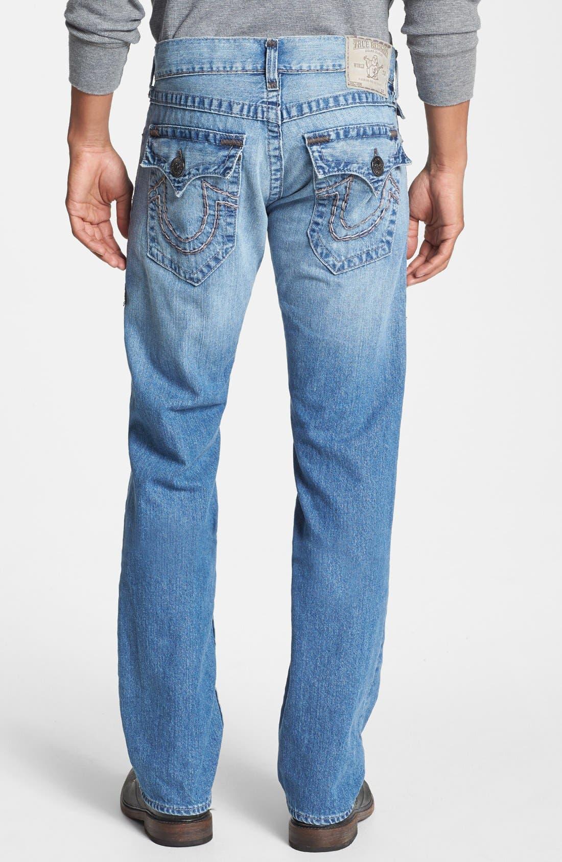 'Ricky' Straight Leg Jeans,                             Main thumbnail 1, color,                             400