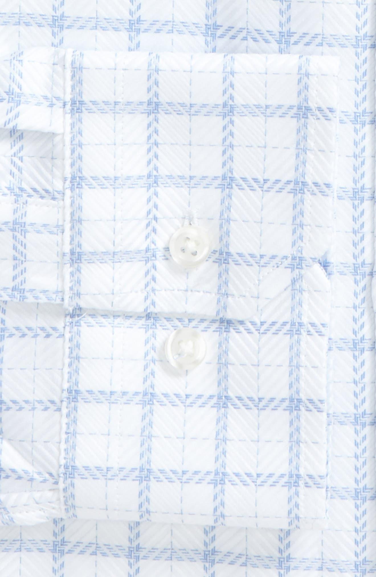 Trim Fit Windowpane Dress Shirt,                             Alternate thumbnail 2, color,                             450