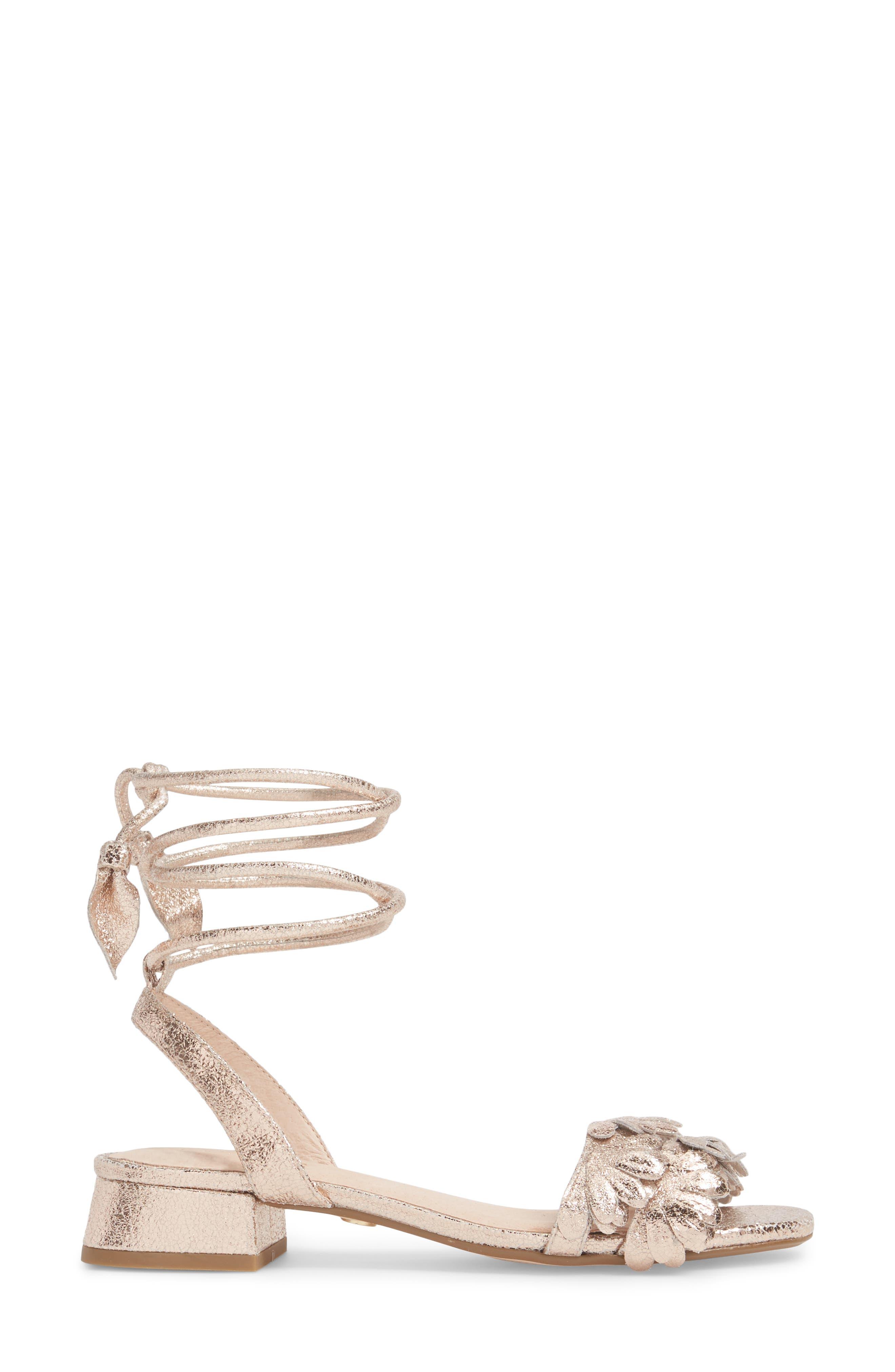 Fleur Ankle Wrap Sandal,                             Alternate thumbnail 3, color,                             650