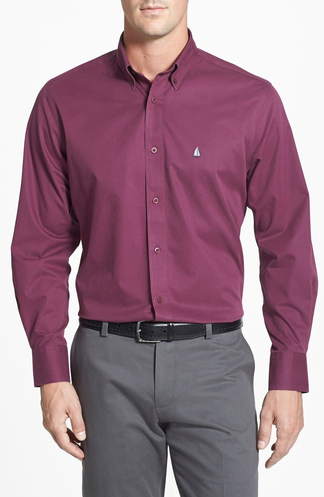 Smartcare<sup>™</sup> Traditional Fit Twill Boat Shirt,                             Main thumbnail 30, color,