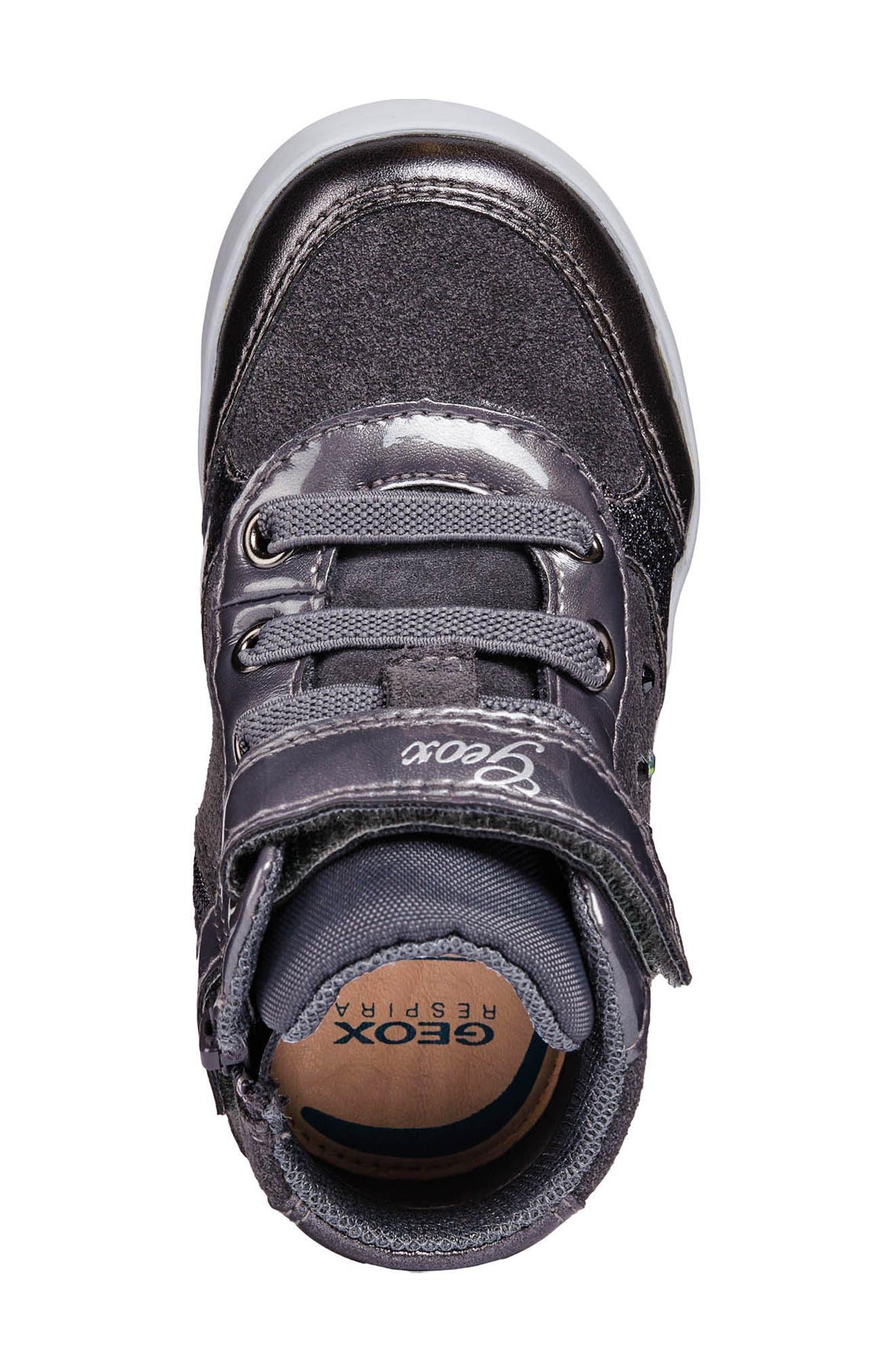 Kilwi High Top Sneaker,                             Alternate thumbnail 4, color,                             DARK GREY