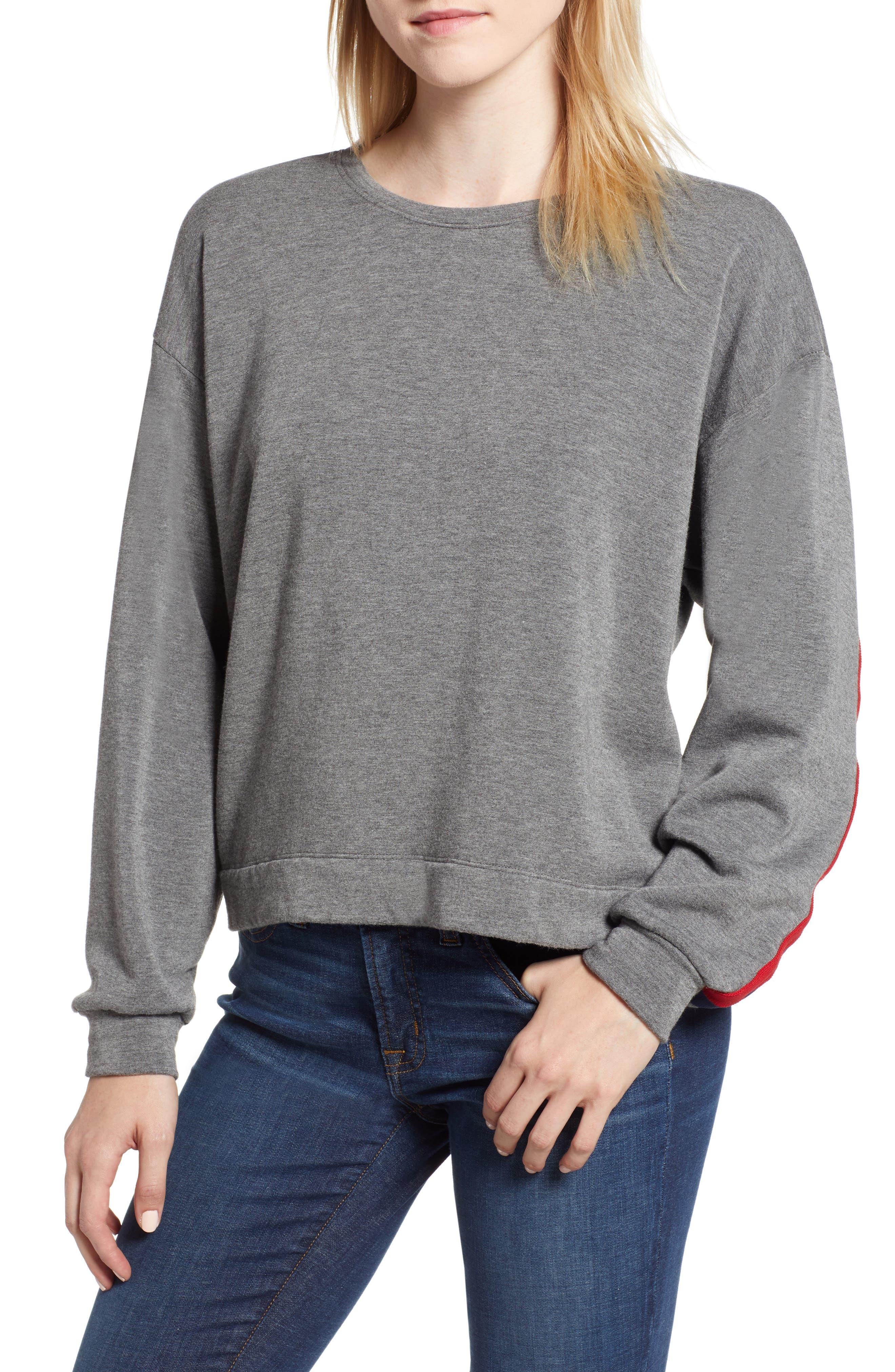Athleisure Stripe Detail Sweatshirt,                         Main,                         color, 024