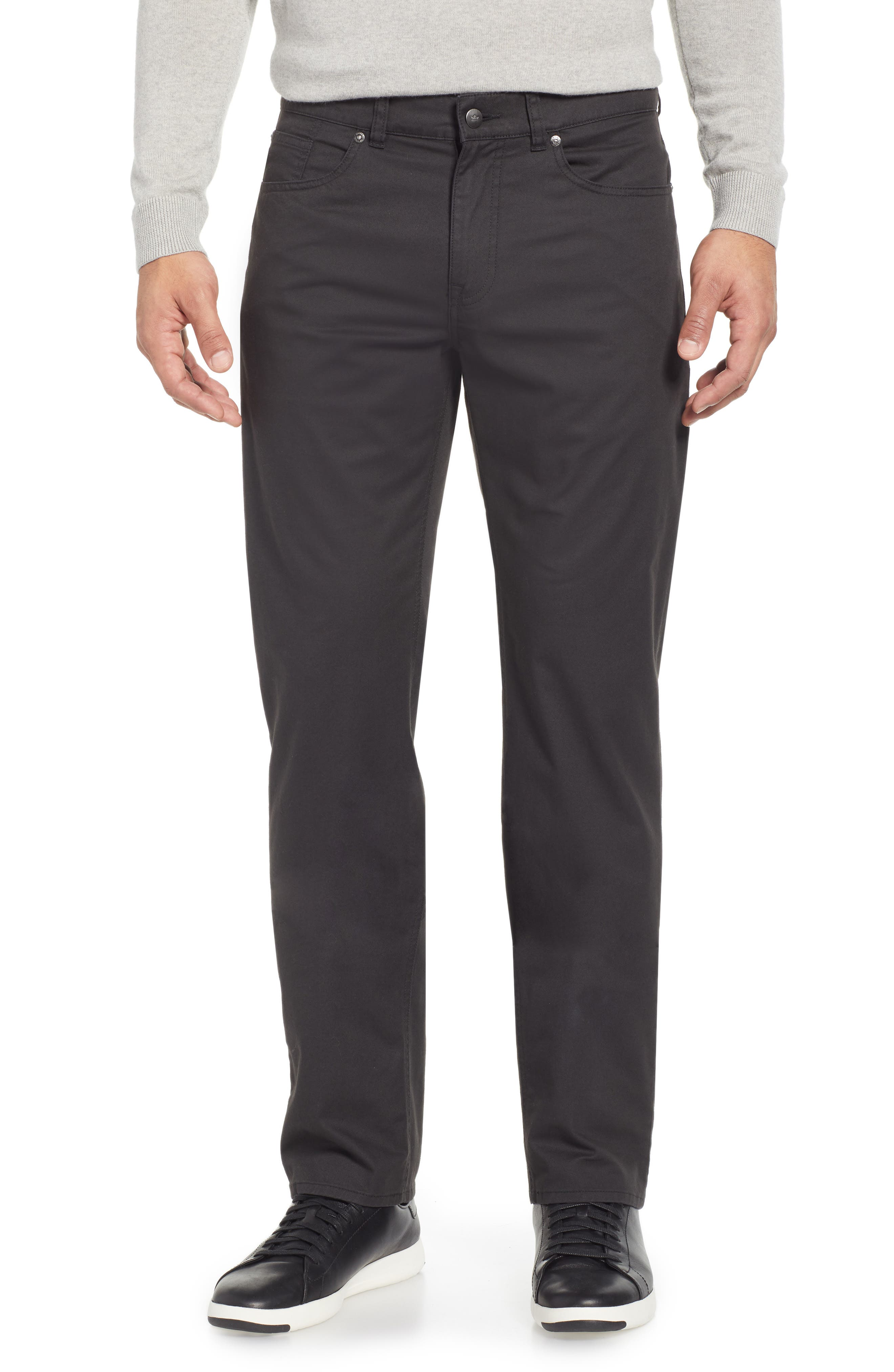 Soft Touch Twill Pants,                             Main thumbnail 1, color,                             BLACK