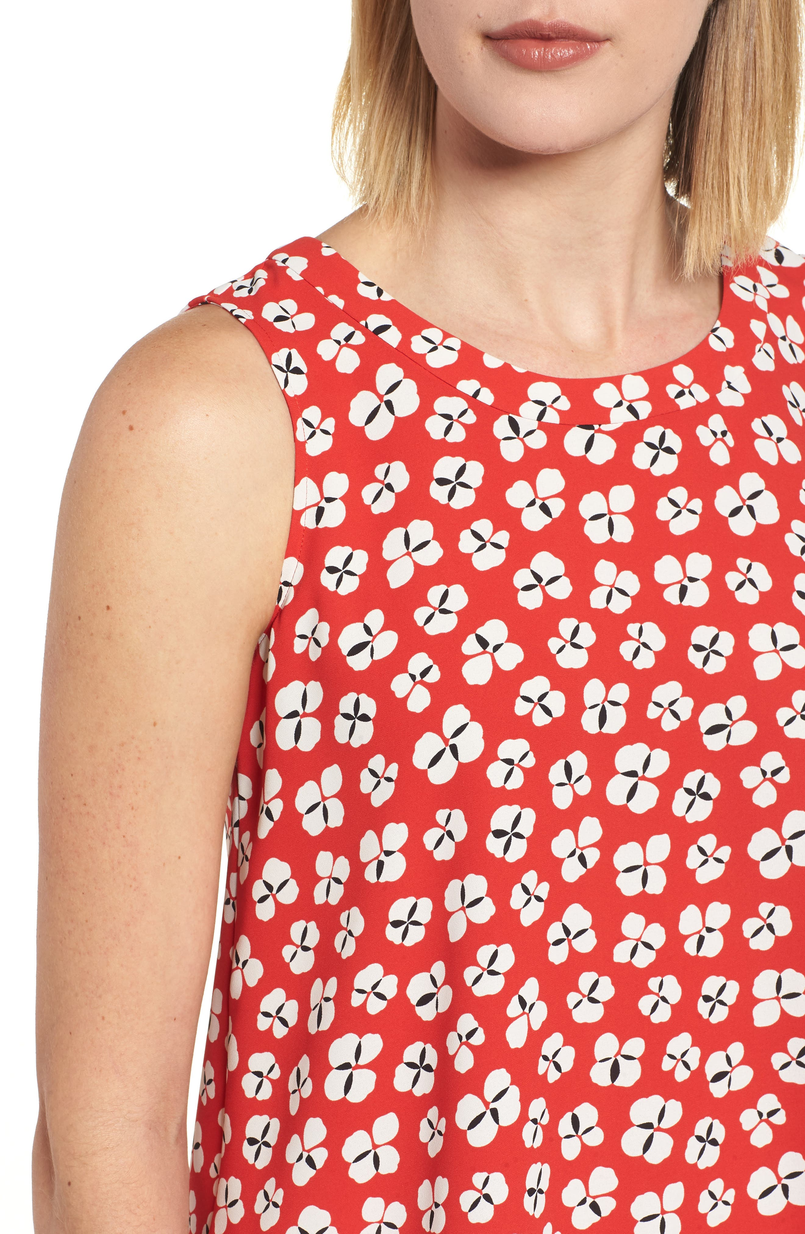 Floral High/Low Swing Top,                             Alternate thumbnail 4, color,
