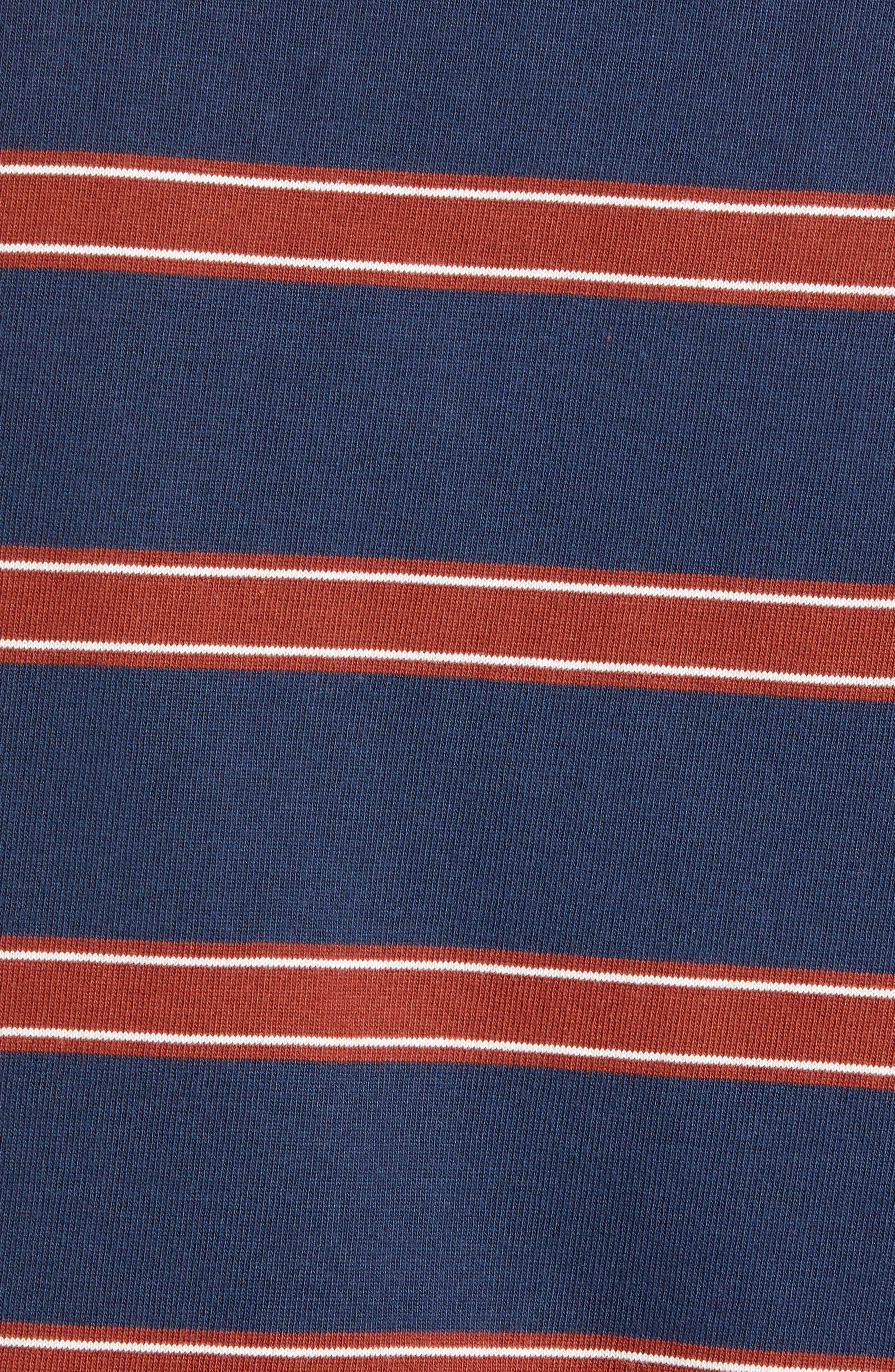 Watson Striped Long Sleeve T-Shirt,                             Alternate thumbnail 5, color,                             DRESS BLUES