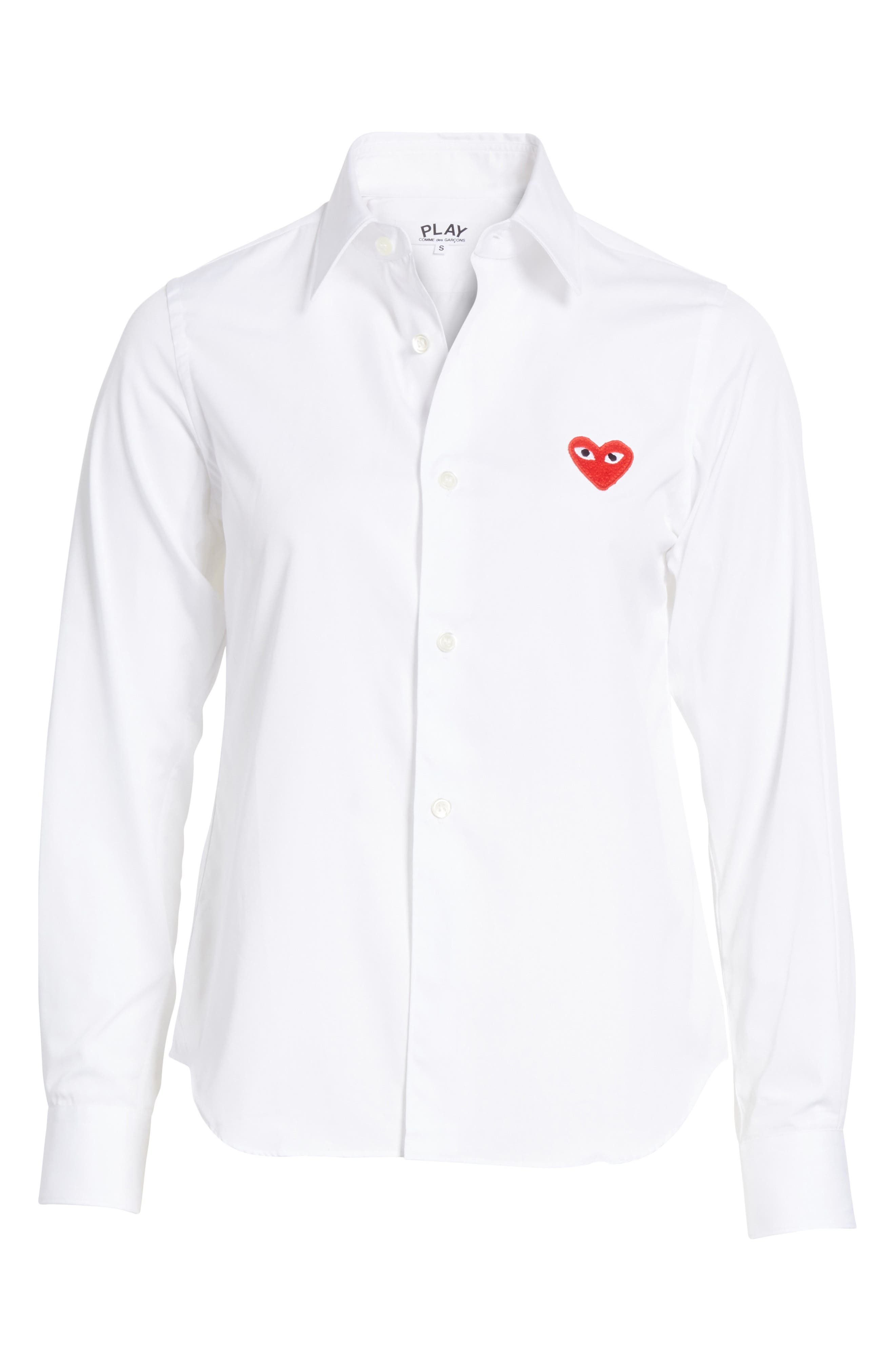 PLAY Red Heart Cotton Shirt,                             Alternate thumbnail 6, color,                             100
