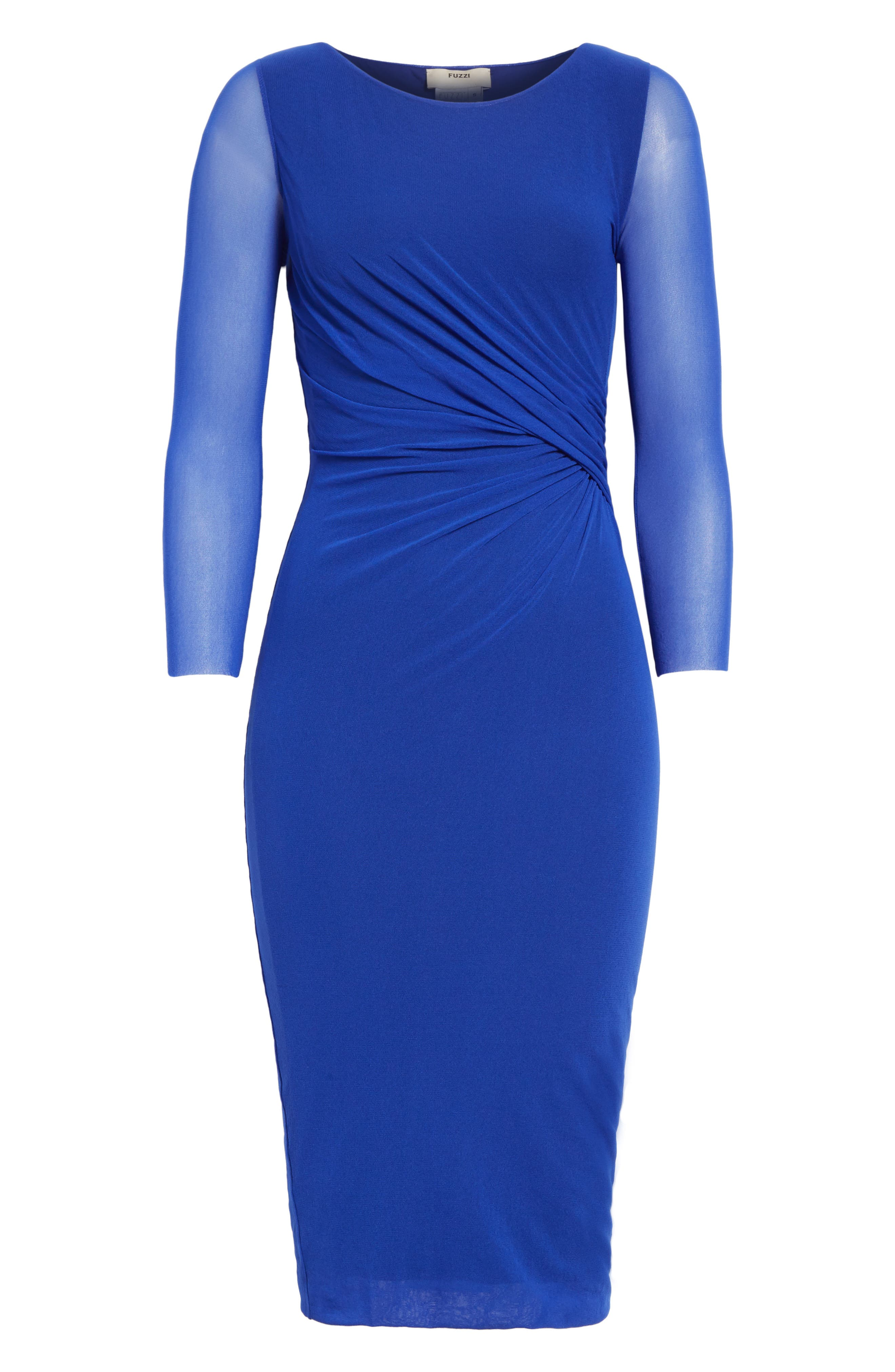Ruched Tulle Dress,                             Alternate thumbnail 6, color,                             433