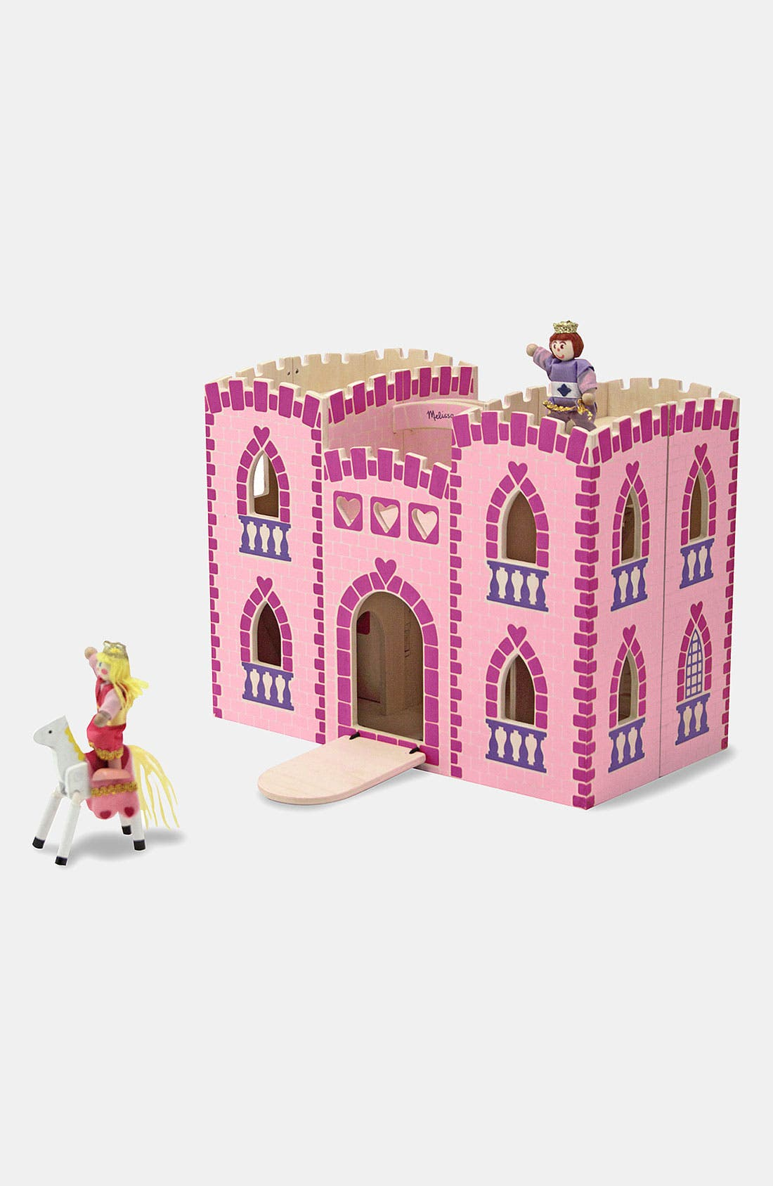 Fold & Go Princess Castle,                             Main thumbnail 1, color,                             PINK