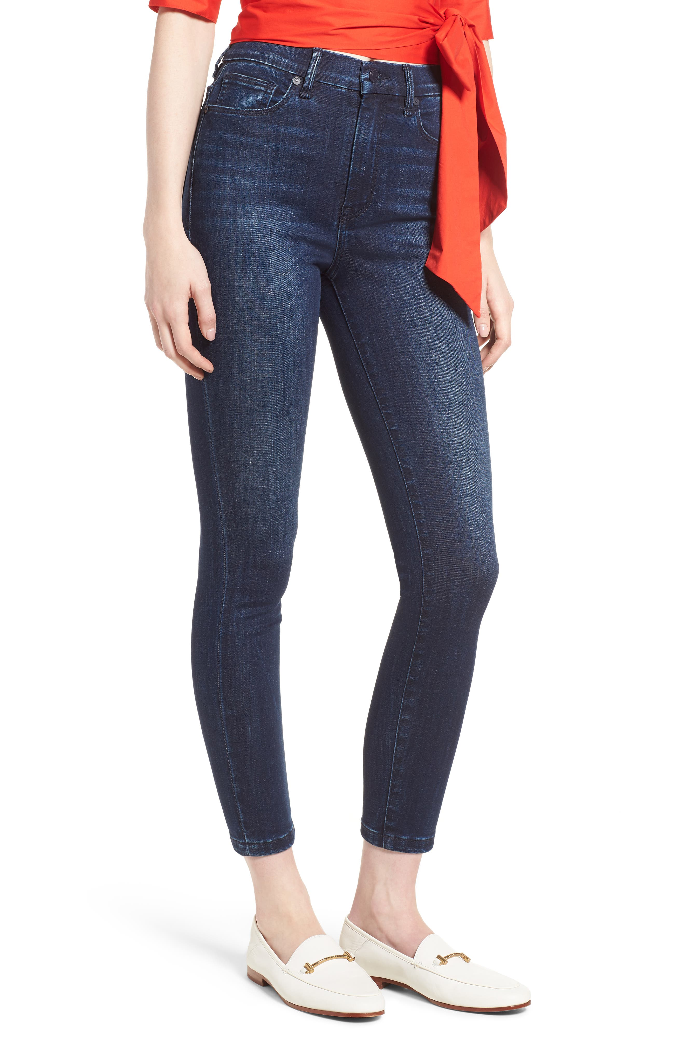 Cressa High Rise Ankle Skinny Jeans,                             Main thumbnail 1, color,                             SUGAR MAPLE
