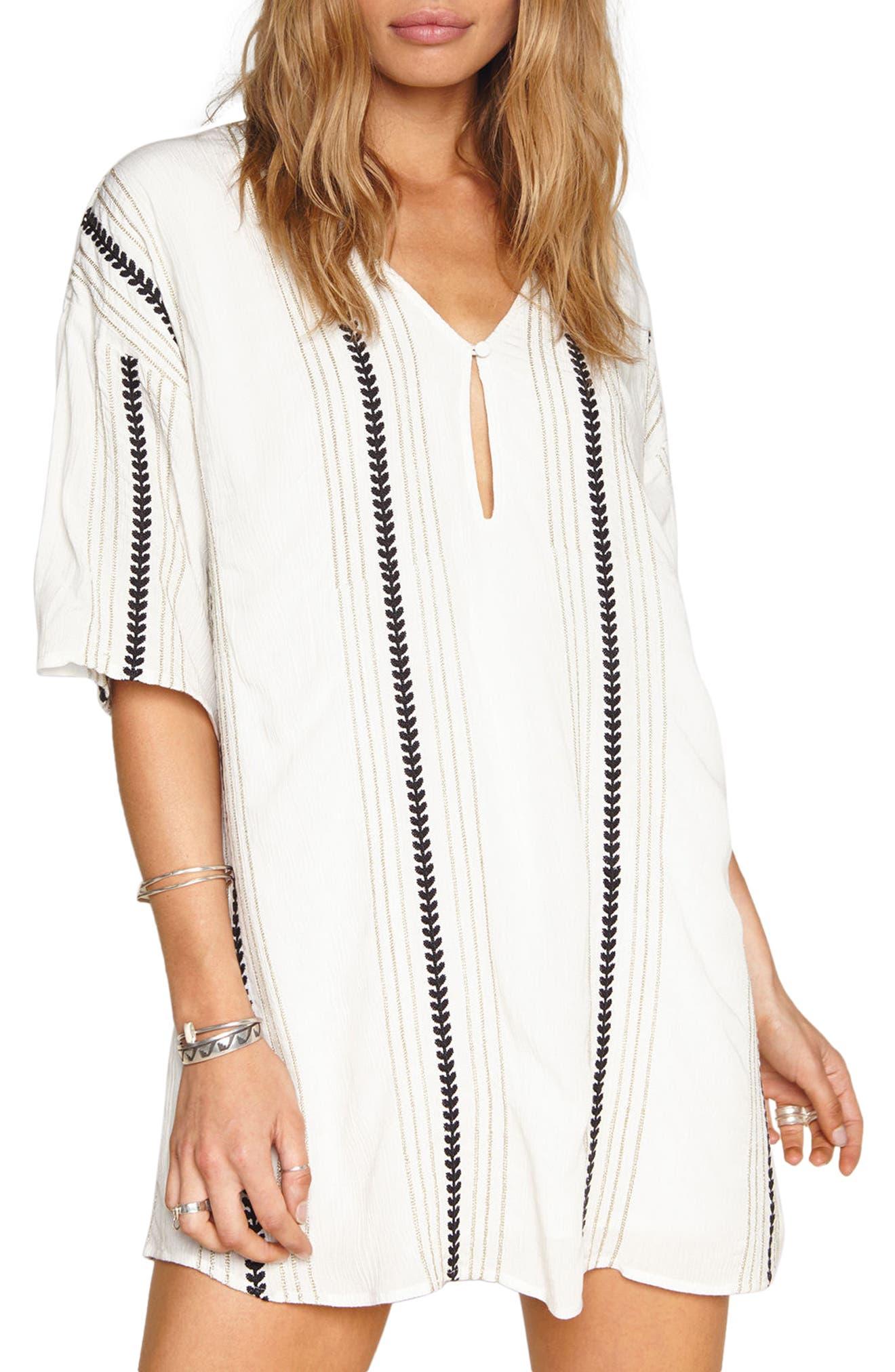 Hampton Stripe Shift Dress,                             Alternate thumbnail 3, color,                             101