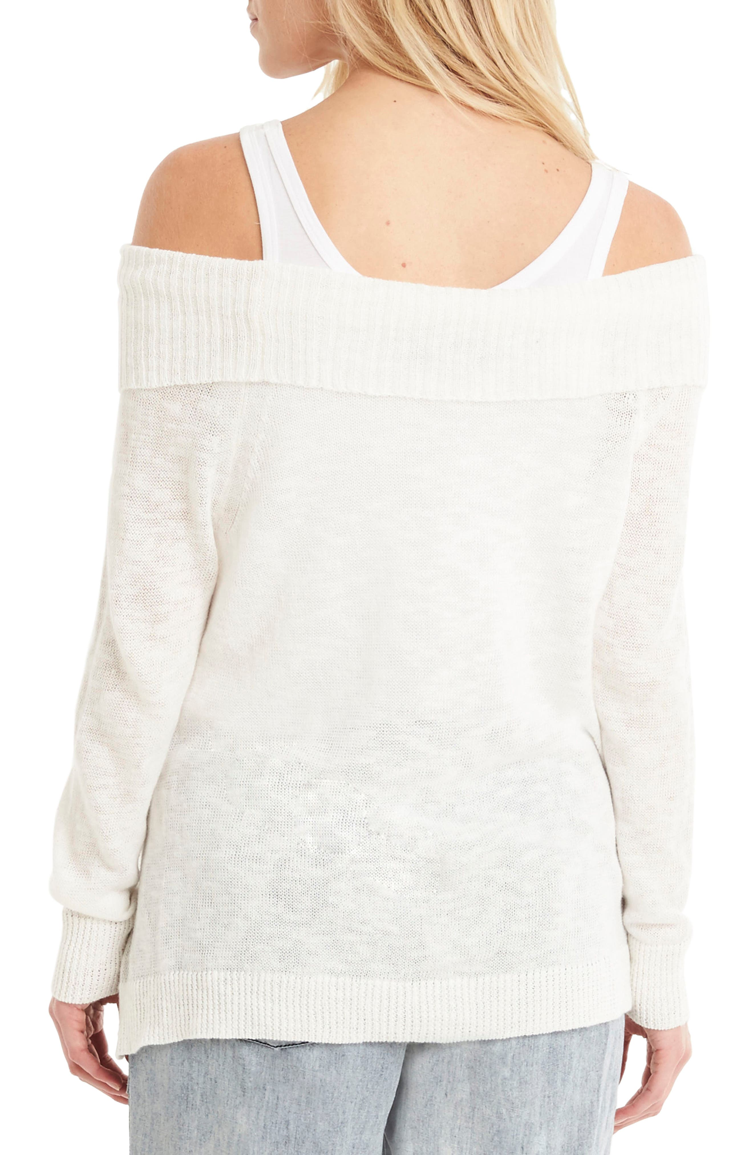 Off the Shoulder Sweater,                             Alternate thumbnail 2, color,                             020
