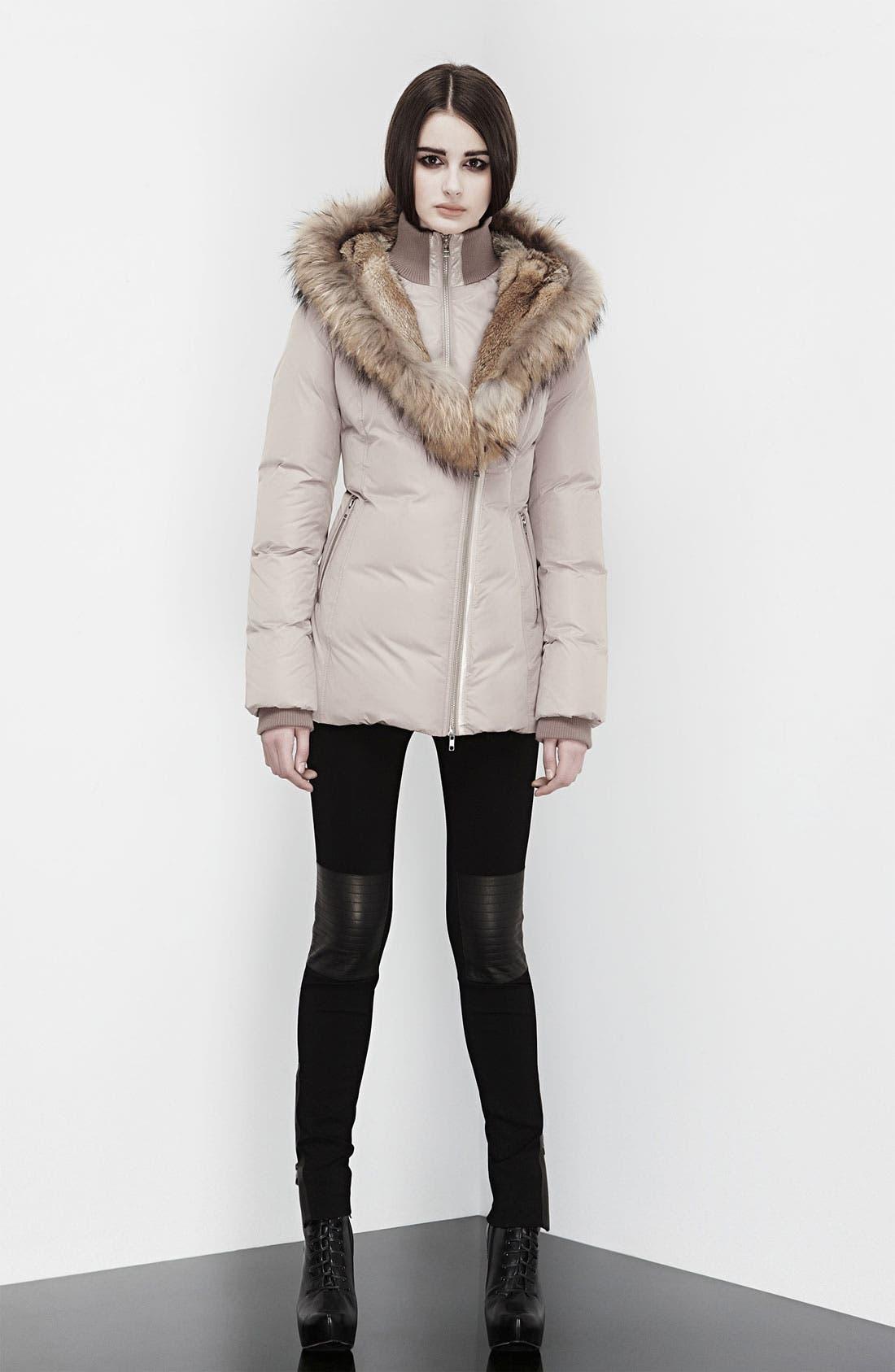 MACKAGE,                             'Akiva' Genuine Fox & Rabbit Fur Trim Down Coat,                             Alternate thumbnail 6, color,                             250