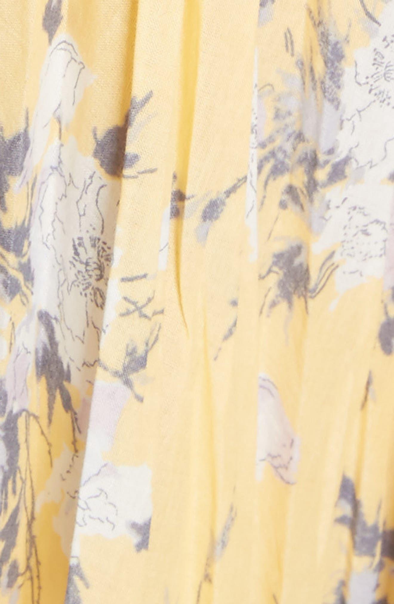Pleat Midi Dress,                             Alternate thumbnail 5, color,