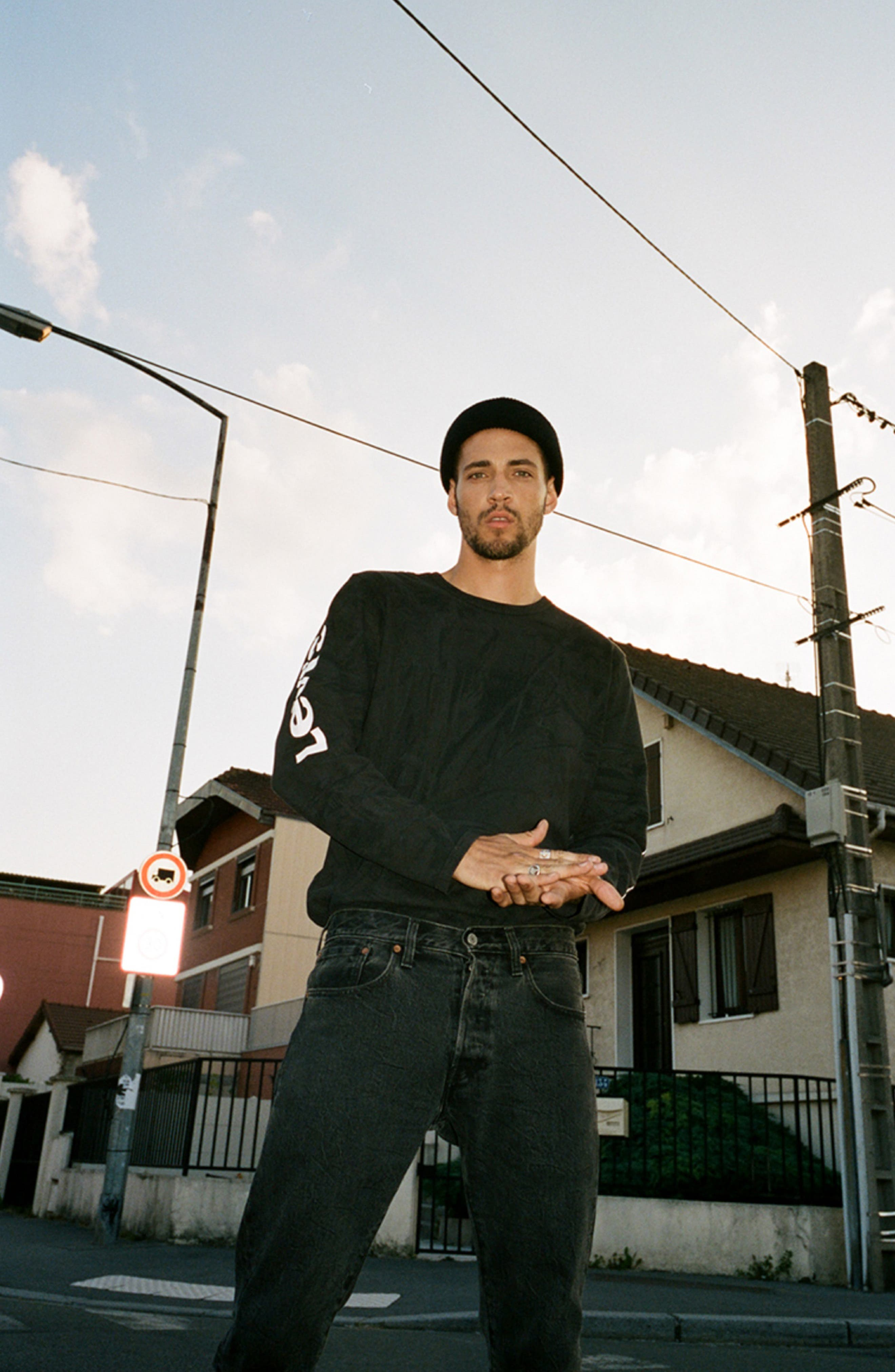 x Justin Timberlake Camo Long Sleeve T-Shirt,                             Alternate thumbnail 2, color,                             BLACK