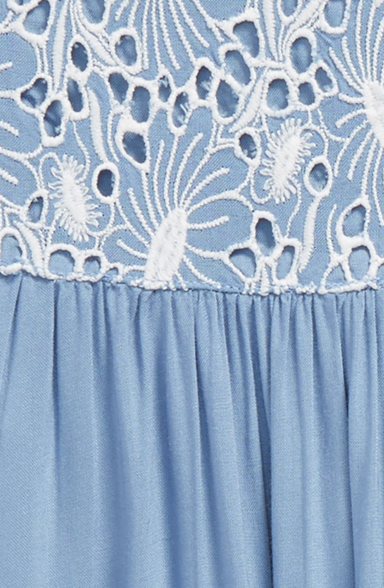 Embroidered Tassel Dress,                             Alternate thumbnail 3, color,                             420