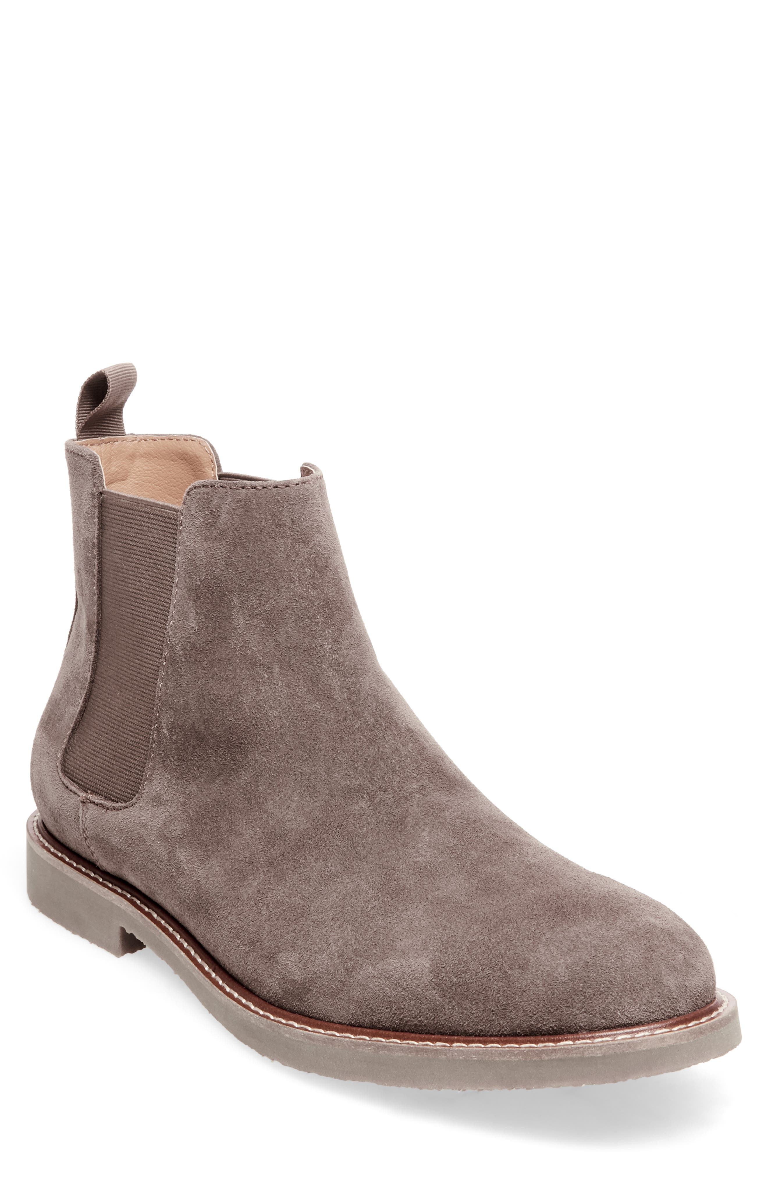 Highline Chelsea Boot,                             Main thumbnail 1, color,                             TAUPE SUEDE