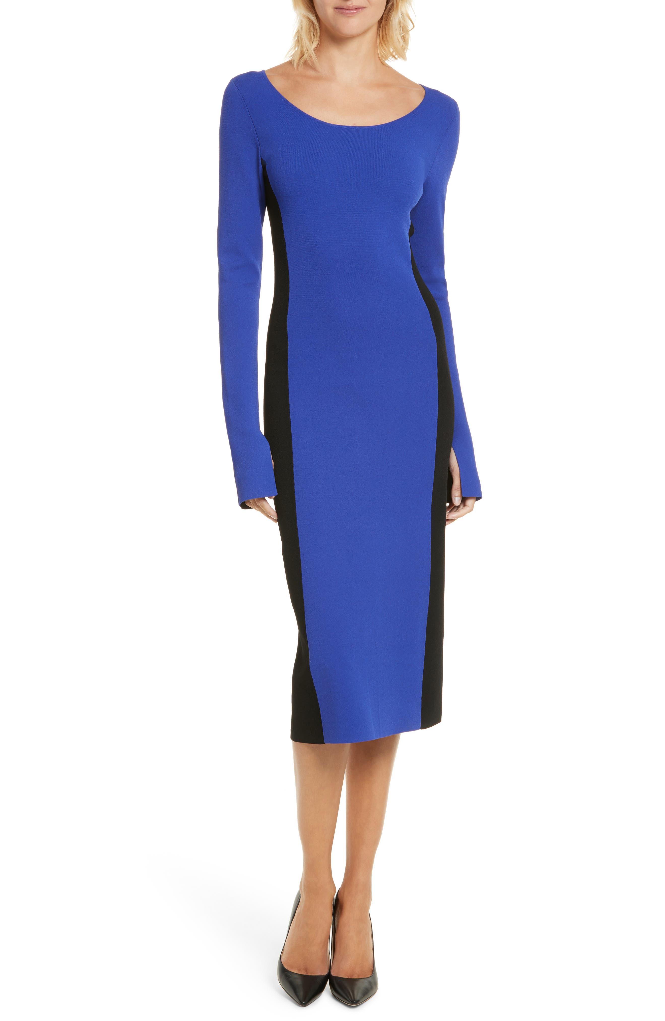 Colorblock Knit Body-Con Dress,                             Alternate thumbnail 5, color,