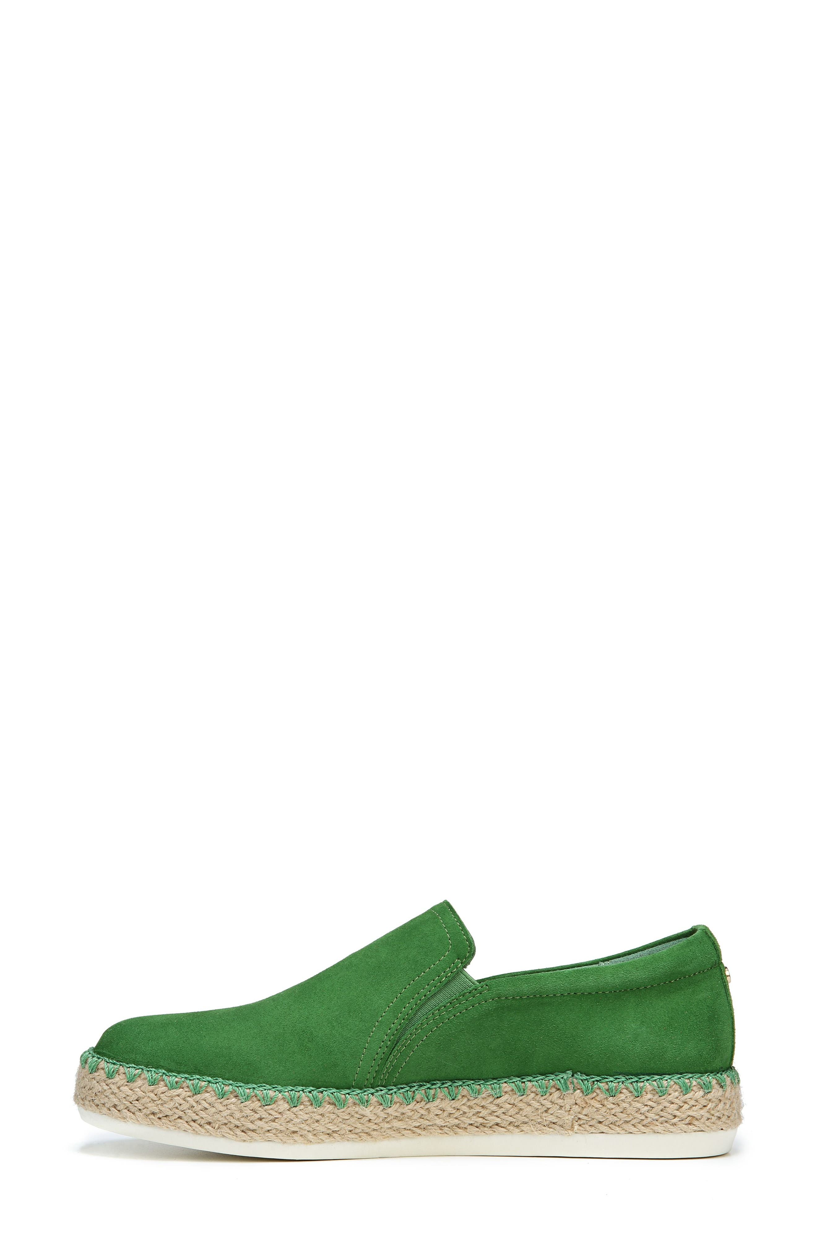 Sunnie Slip-On Sneaker,                             Alternate thumbnail 3, color,                             GREEN SUEDE