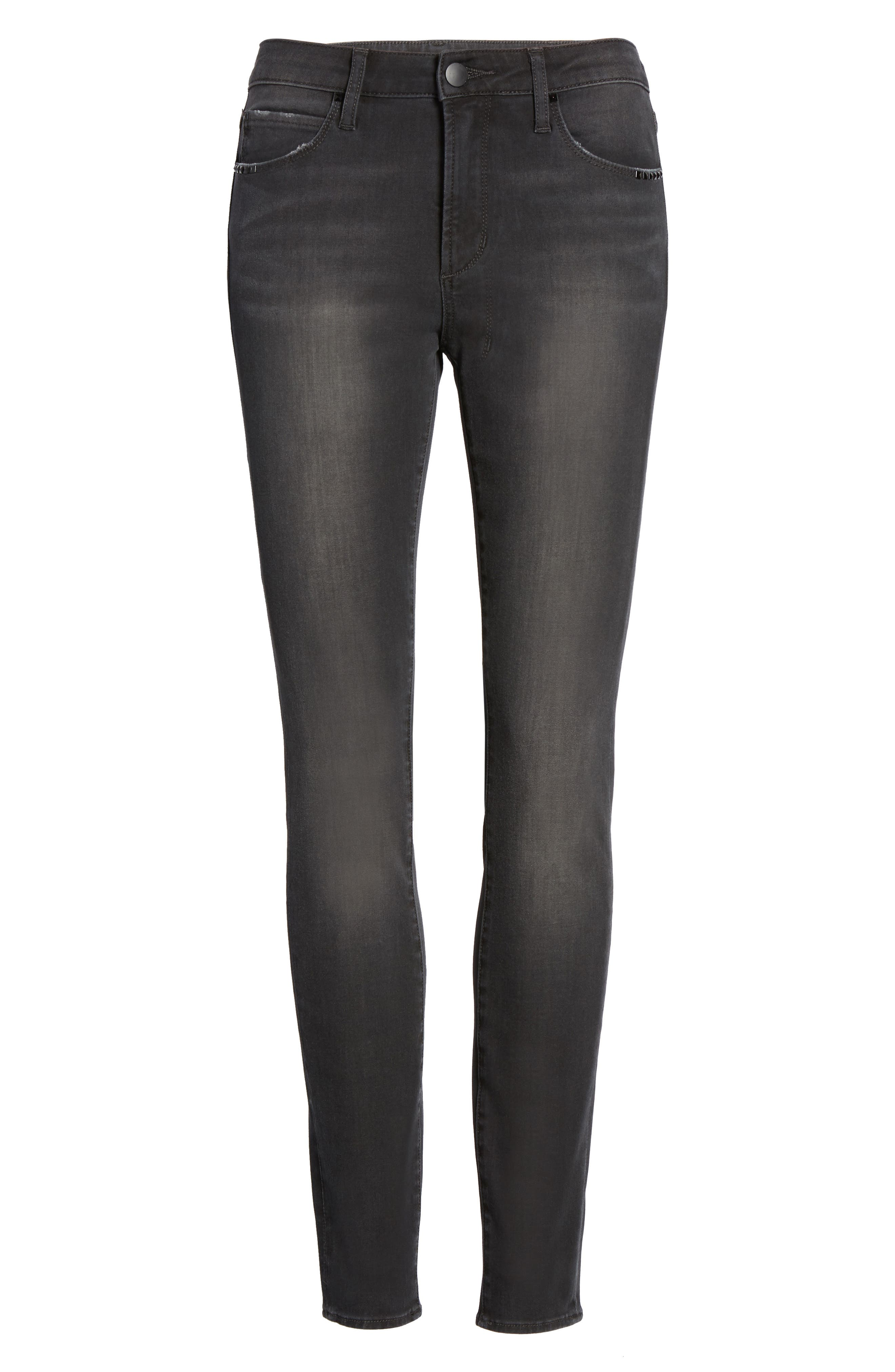 Studded Skinny Jeans,                             Alternate thumbnail 6, color,                             030