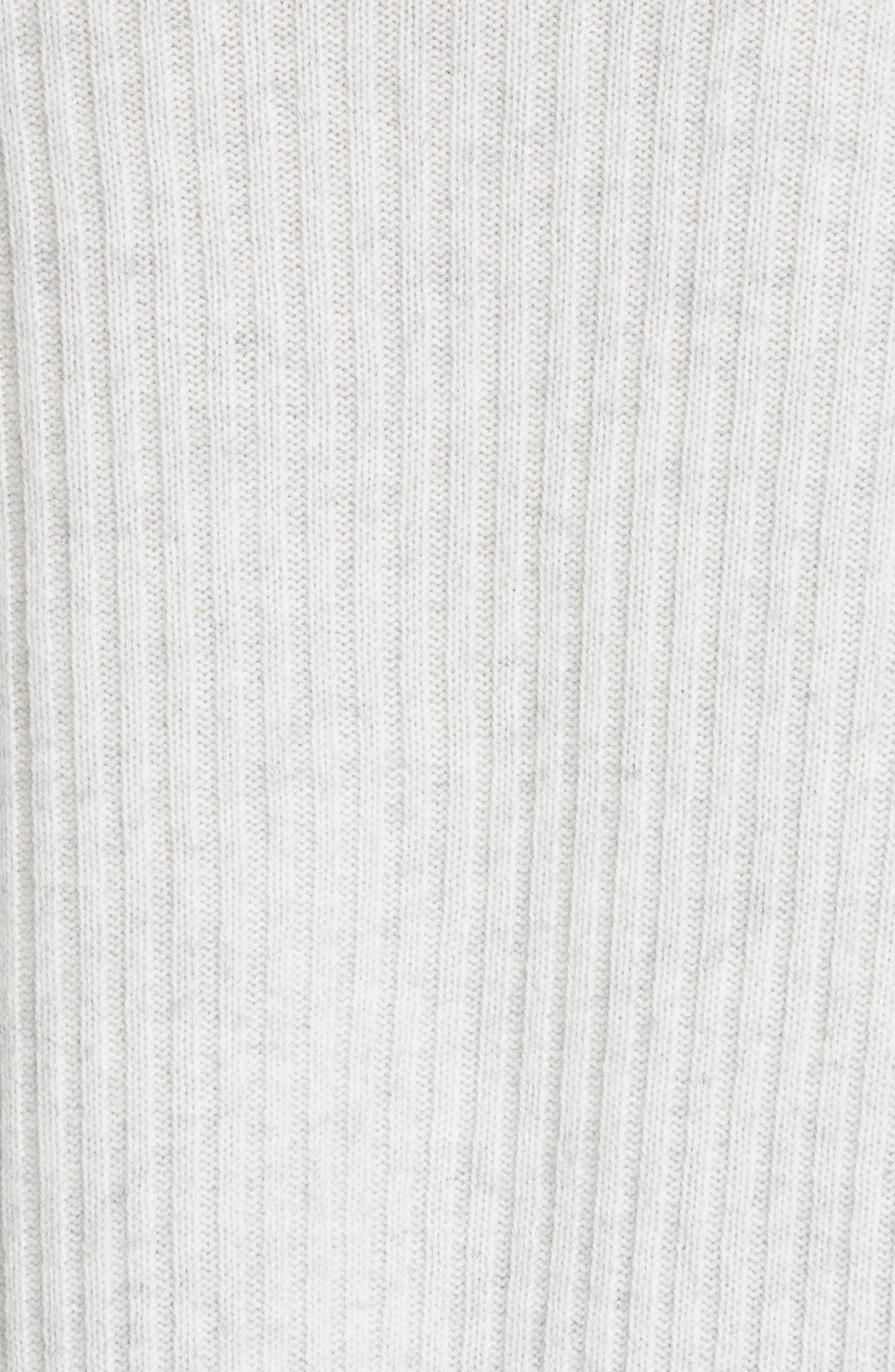 Ribbed Bateau Neck Sweater,                             Alternate thumbnail 5, color,                             HEATHER CLOUD