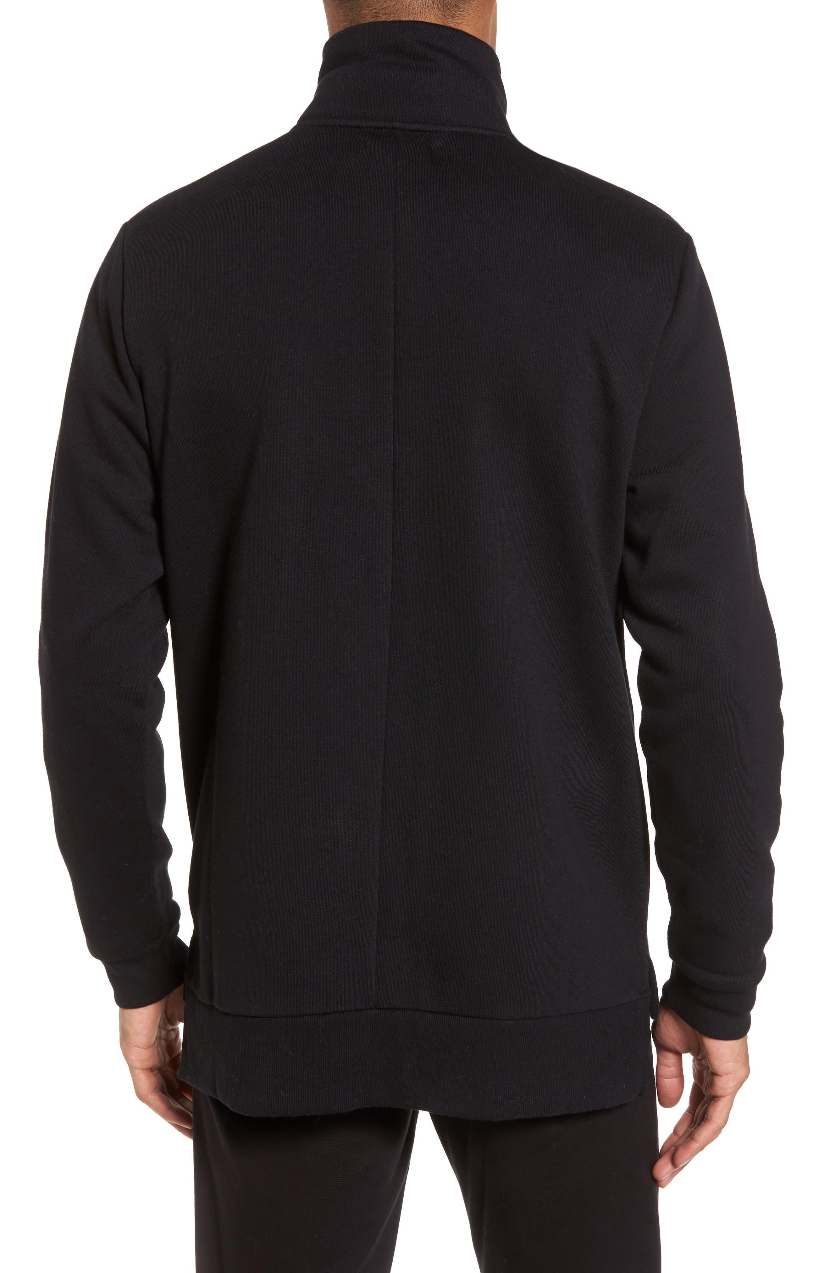 Quarter Zip Fleece Pullover,                             Alternate thumbnail 2, color,                             001