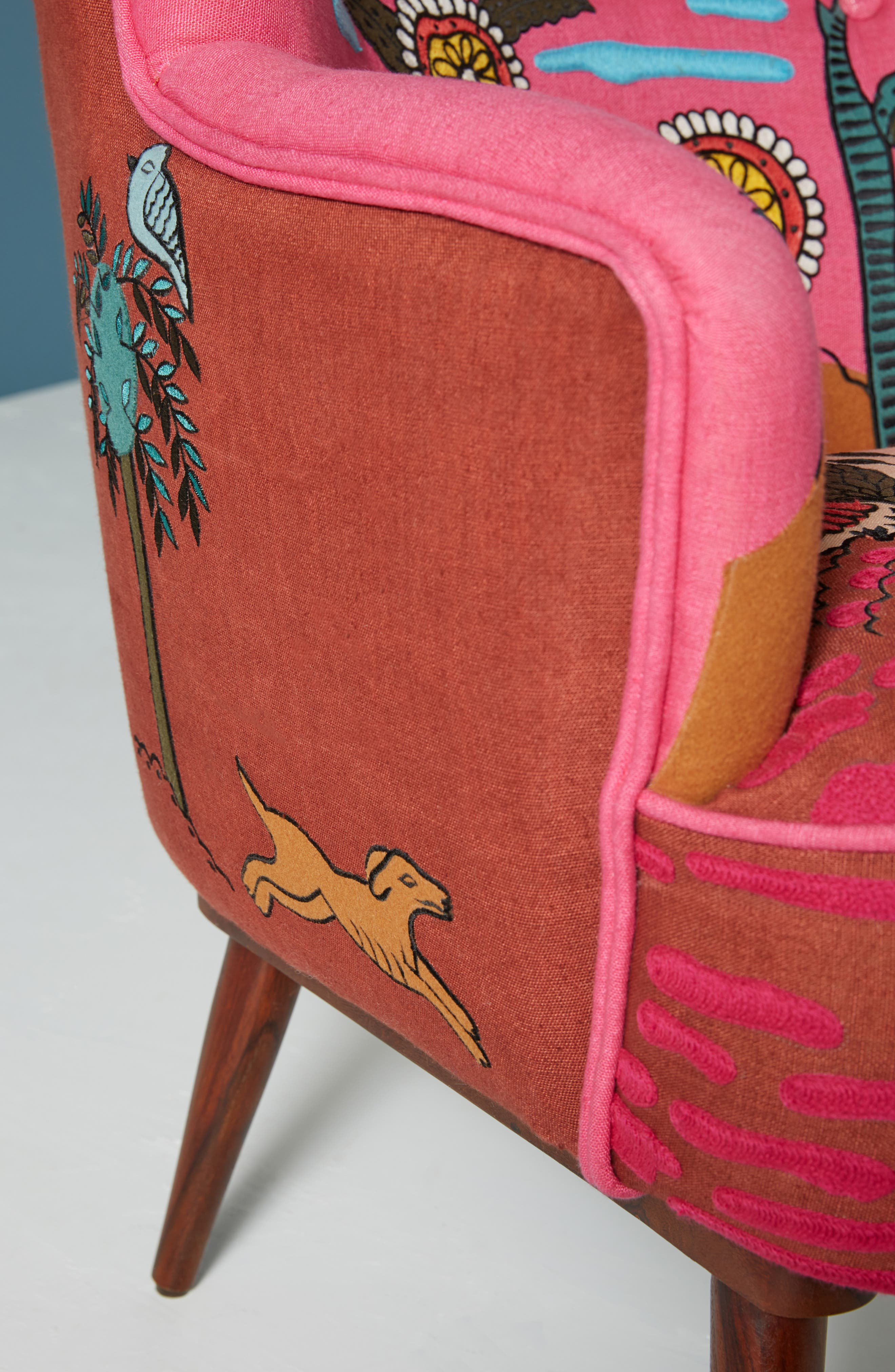 Wayne Occasional Chair,                             Alternate thumbnail 4, color,                             PINK