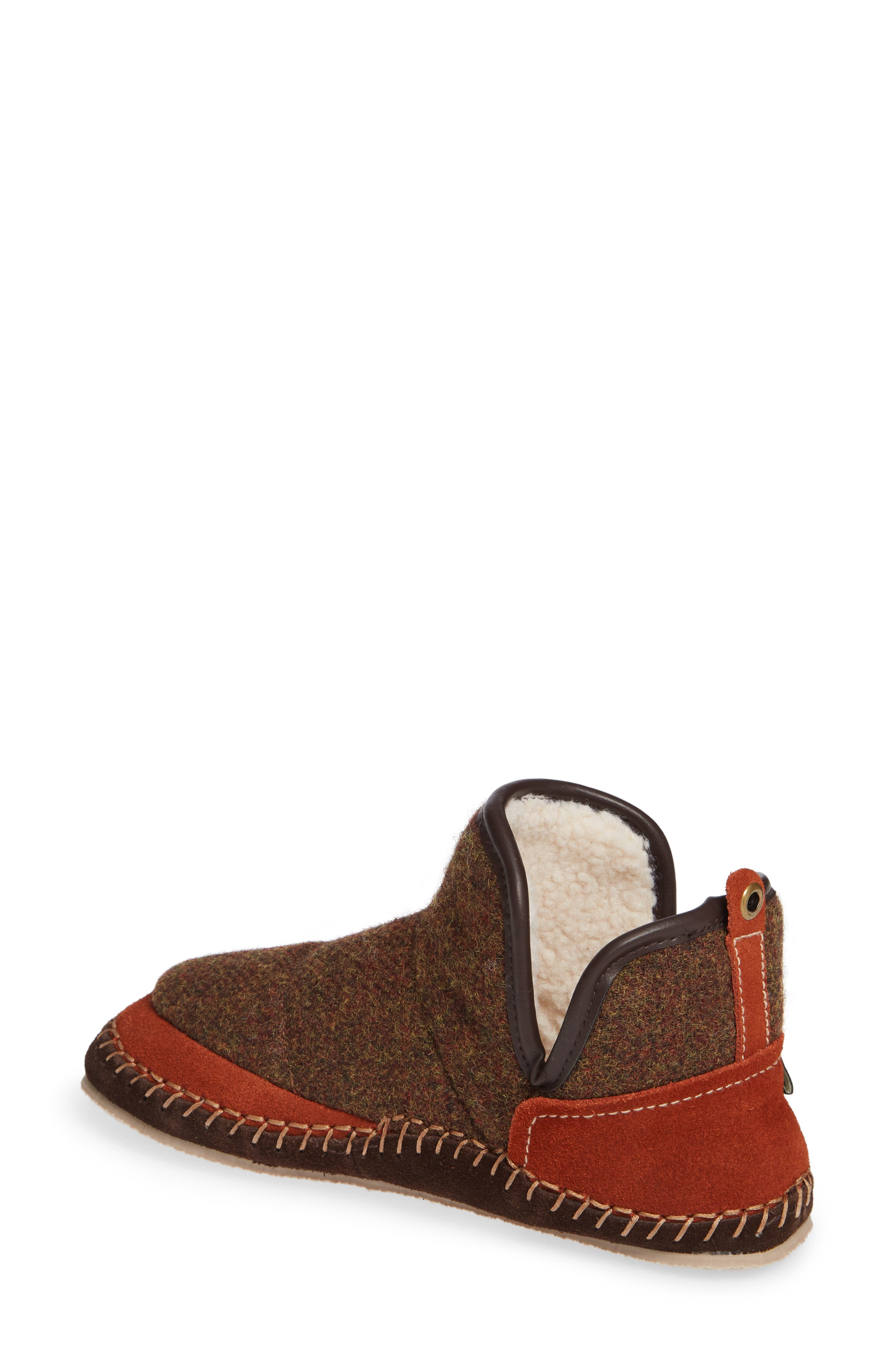 WOOLRICH,                             Glamper Slipper Bootie,                             Alternate thumbnail 2, color,                             SPICED CIDER WOOL
