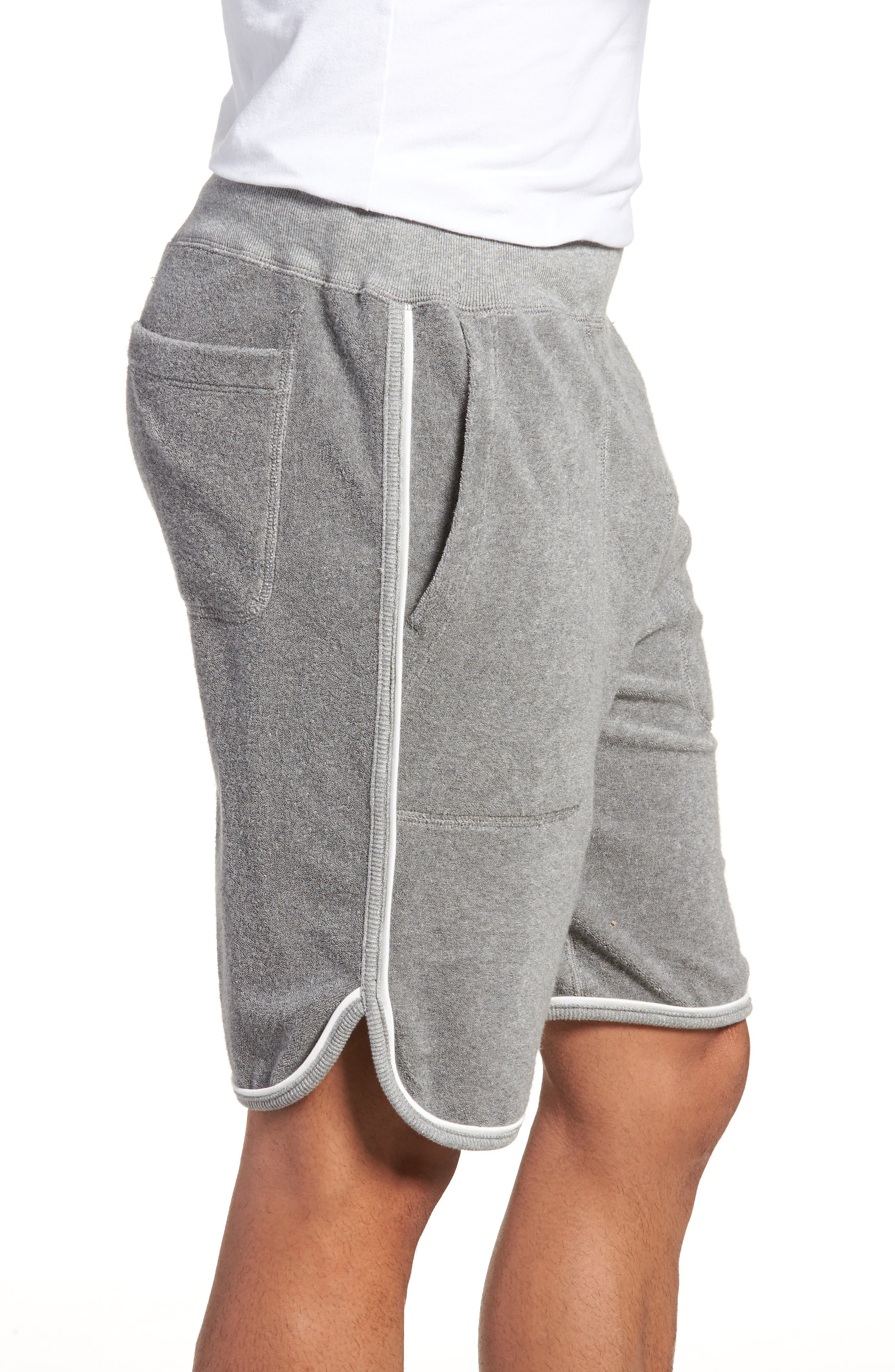 x Champion Piped Terry Shorts,                             Alternate thumbnail 3, color,                             GREY
