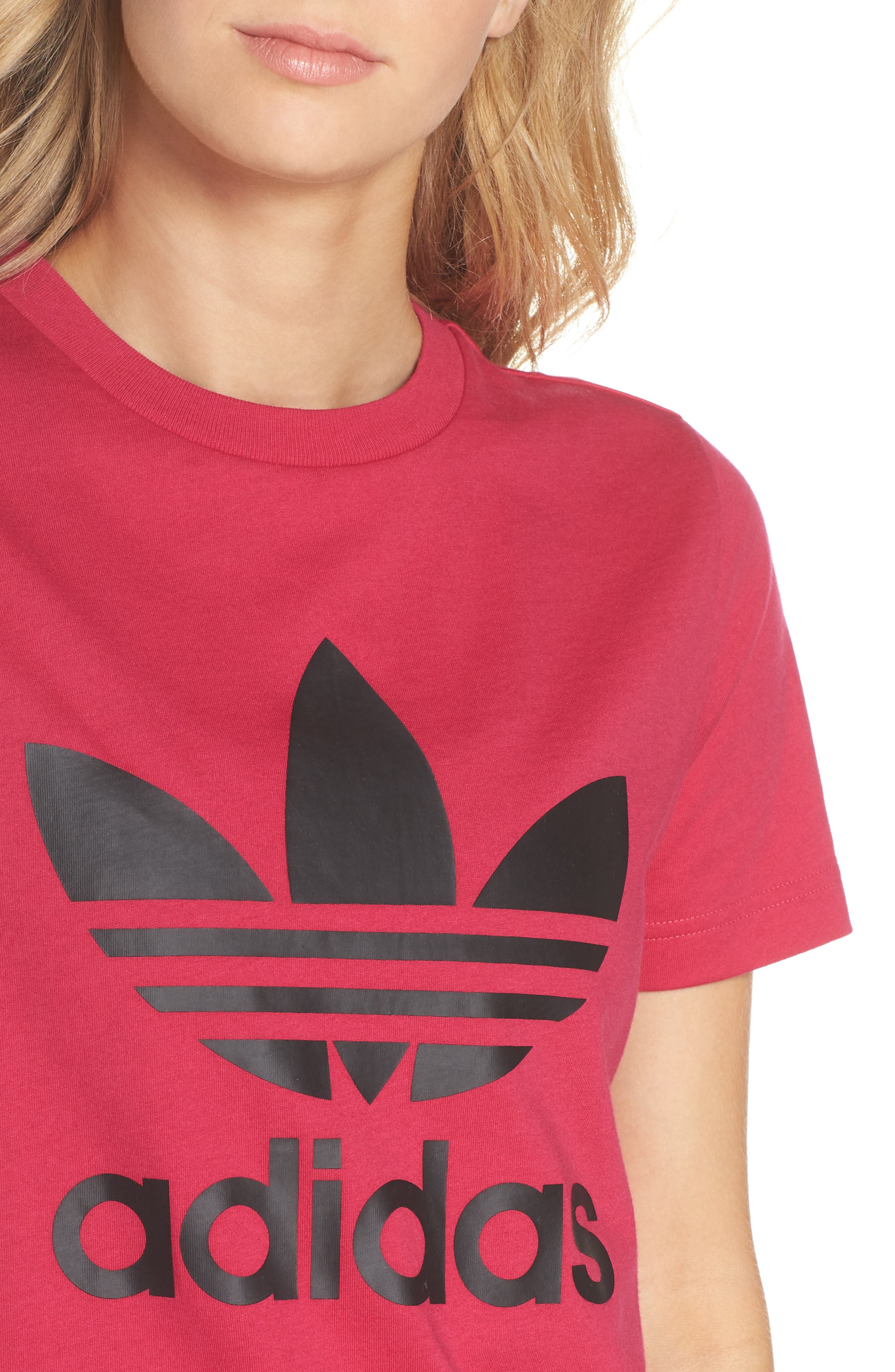 adidas Logo Graphic Short Sleeve Tee,                             Alternate thumbnail 4, color,                             650