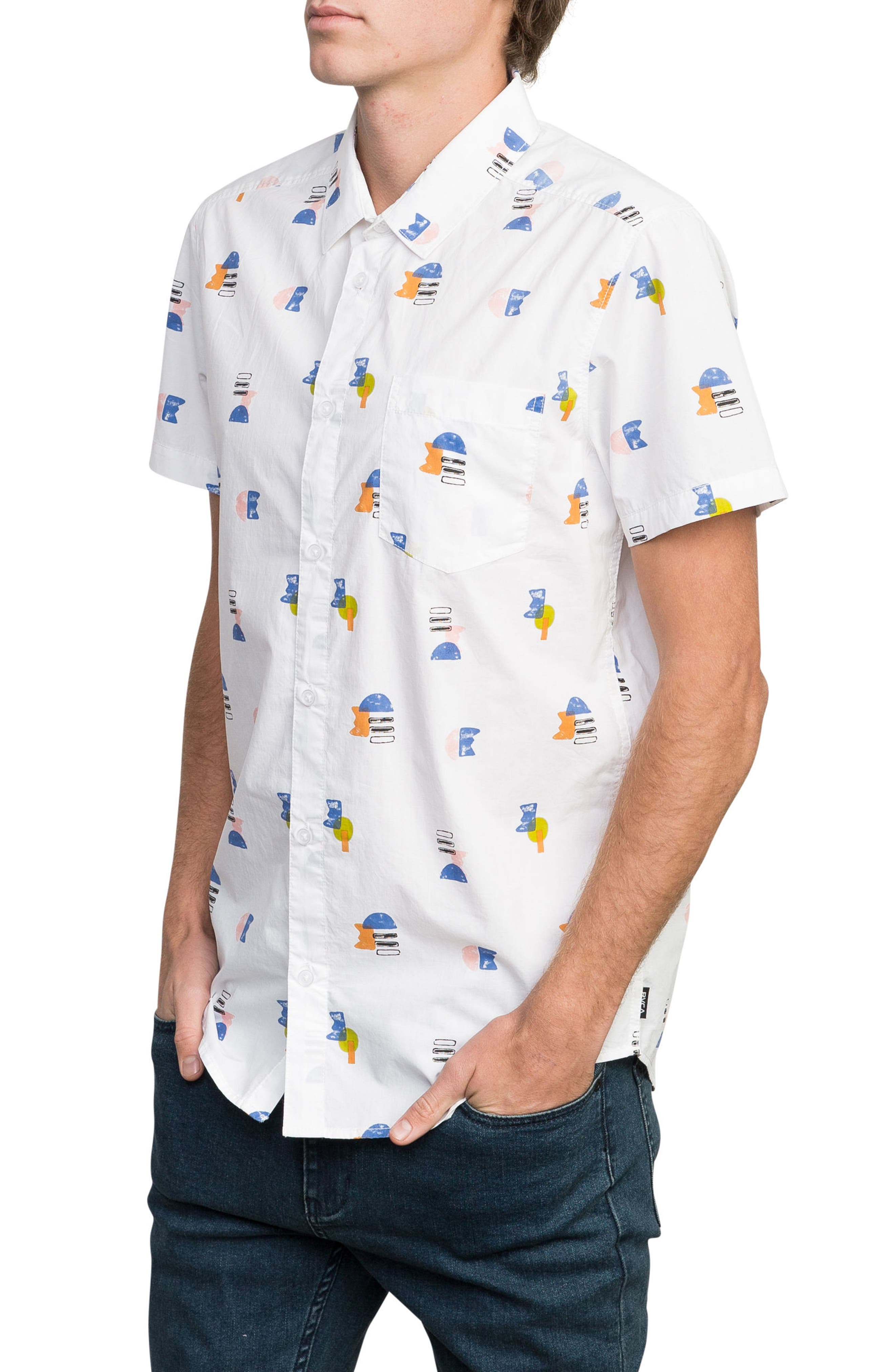 Margo Woven Shirt,                             Alternate thumbnail 3, color,                             100