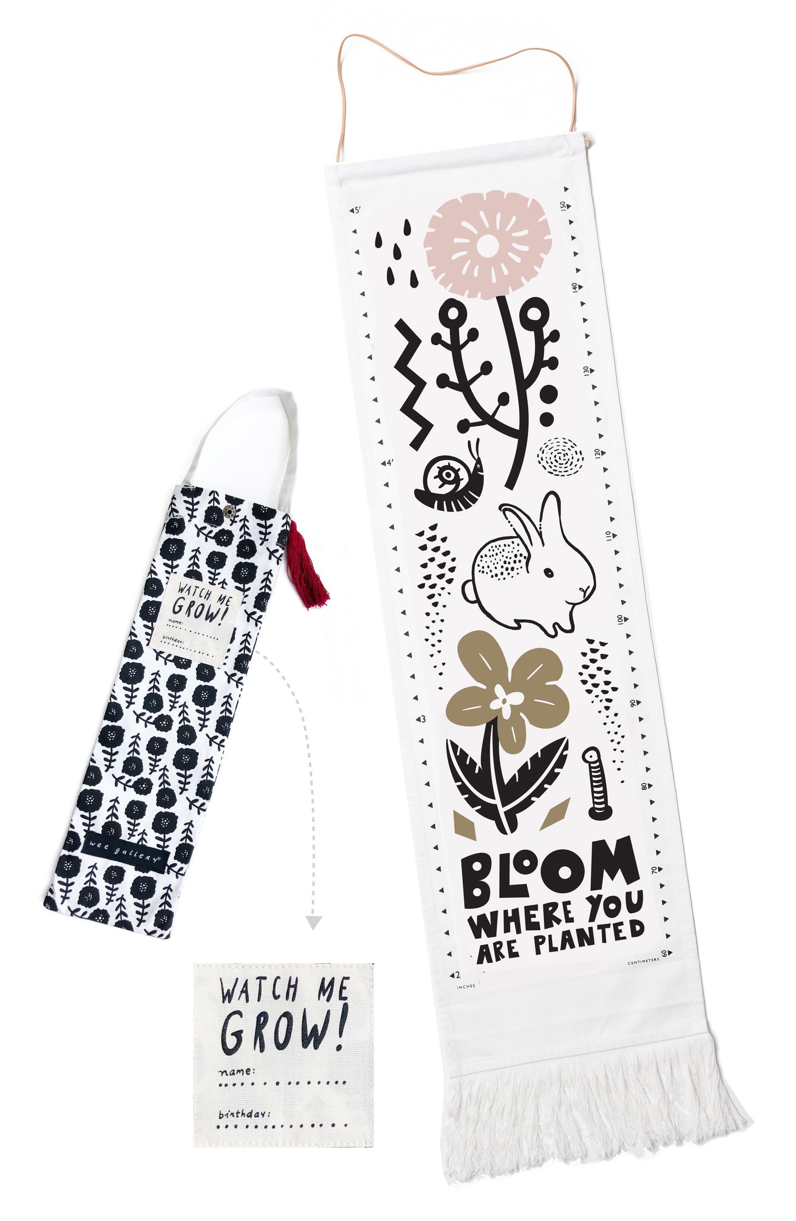 Bloom Growth Chart,                             Alternate thumbnail 2, color,                             BLACK/ PINK/ GOLD/ WHITE