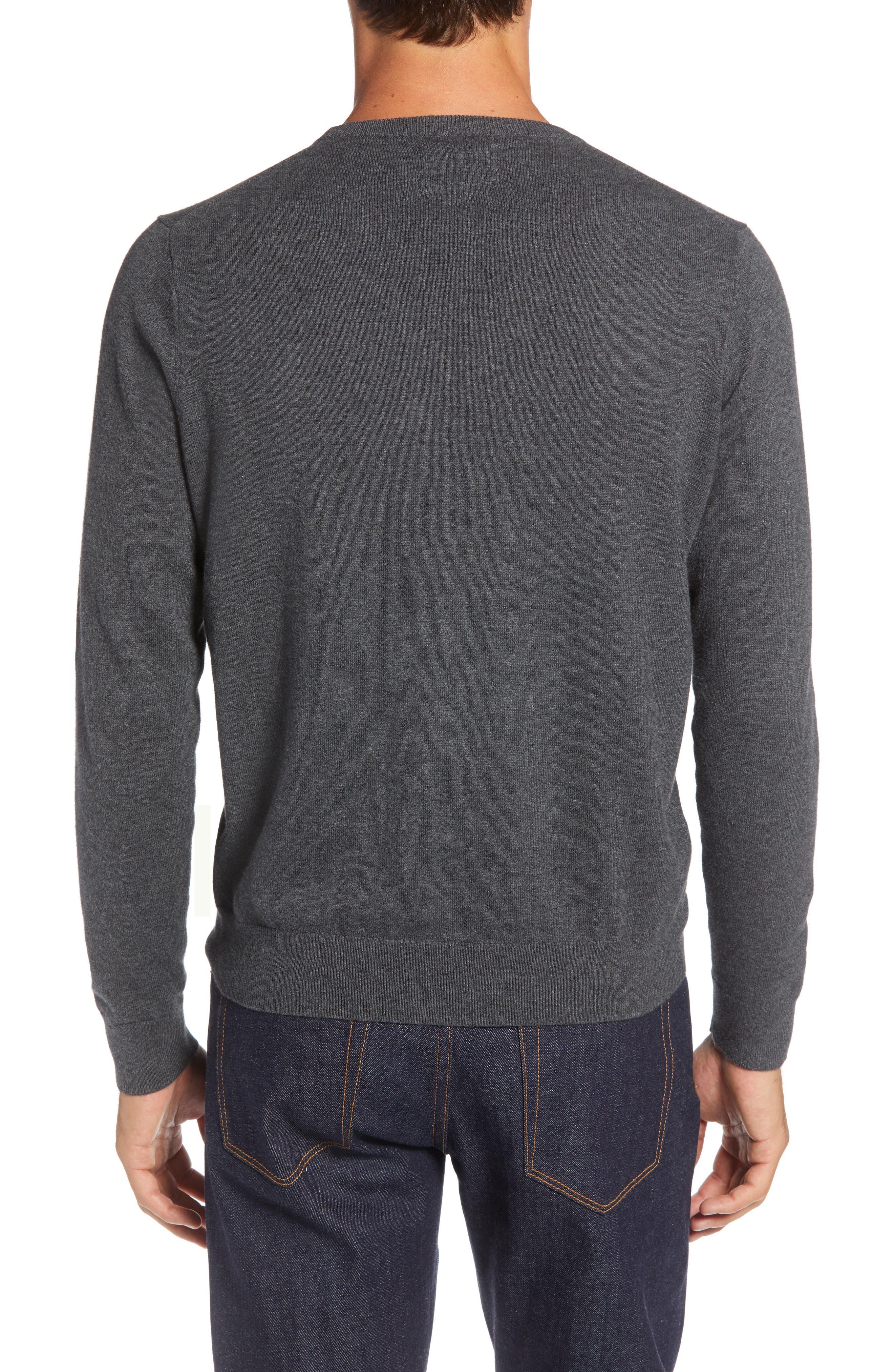 Bear Crewneck Sweater,                             Alternate thumbnail 2, color,                             GREY CASTLEROCK MARL BEAR