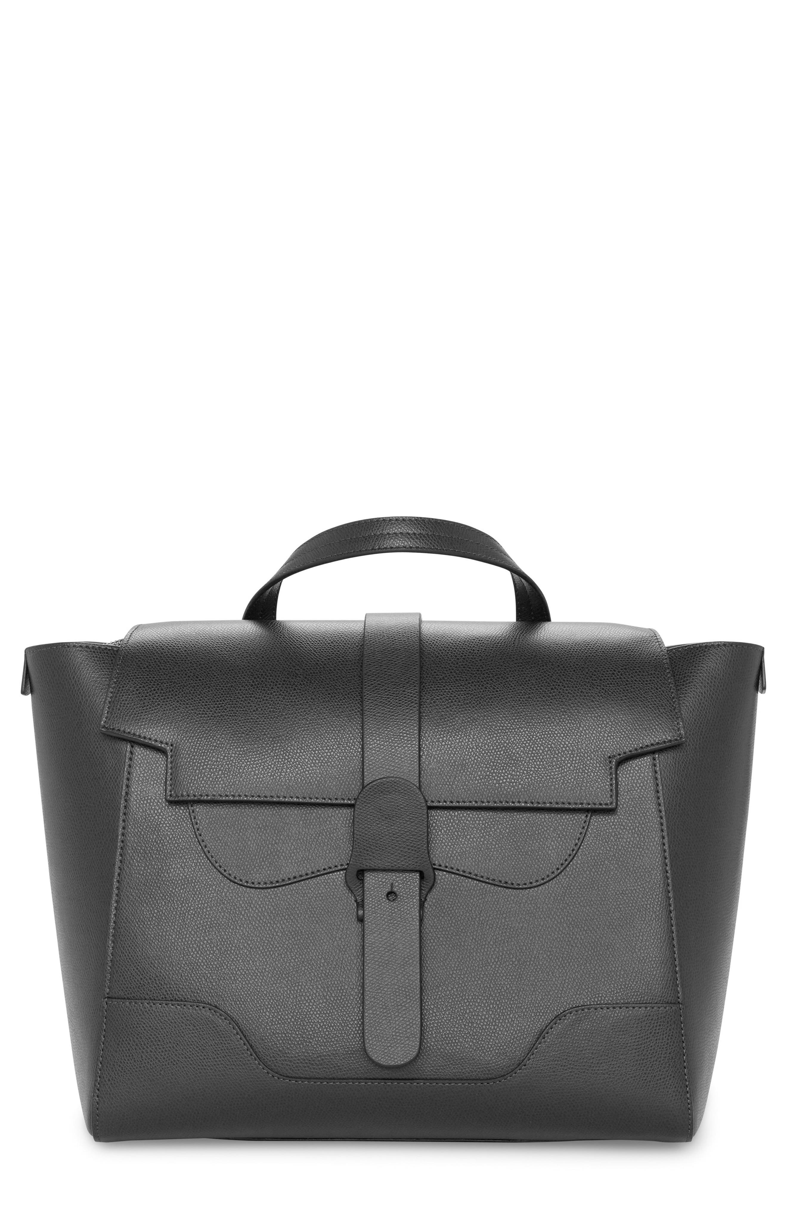 Maestra Pebbled Leather Satchel,                         Main,                         color, 001