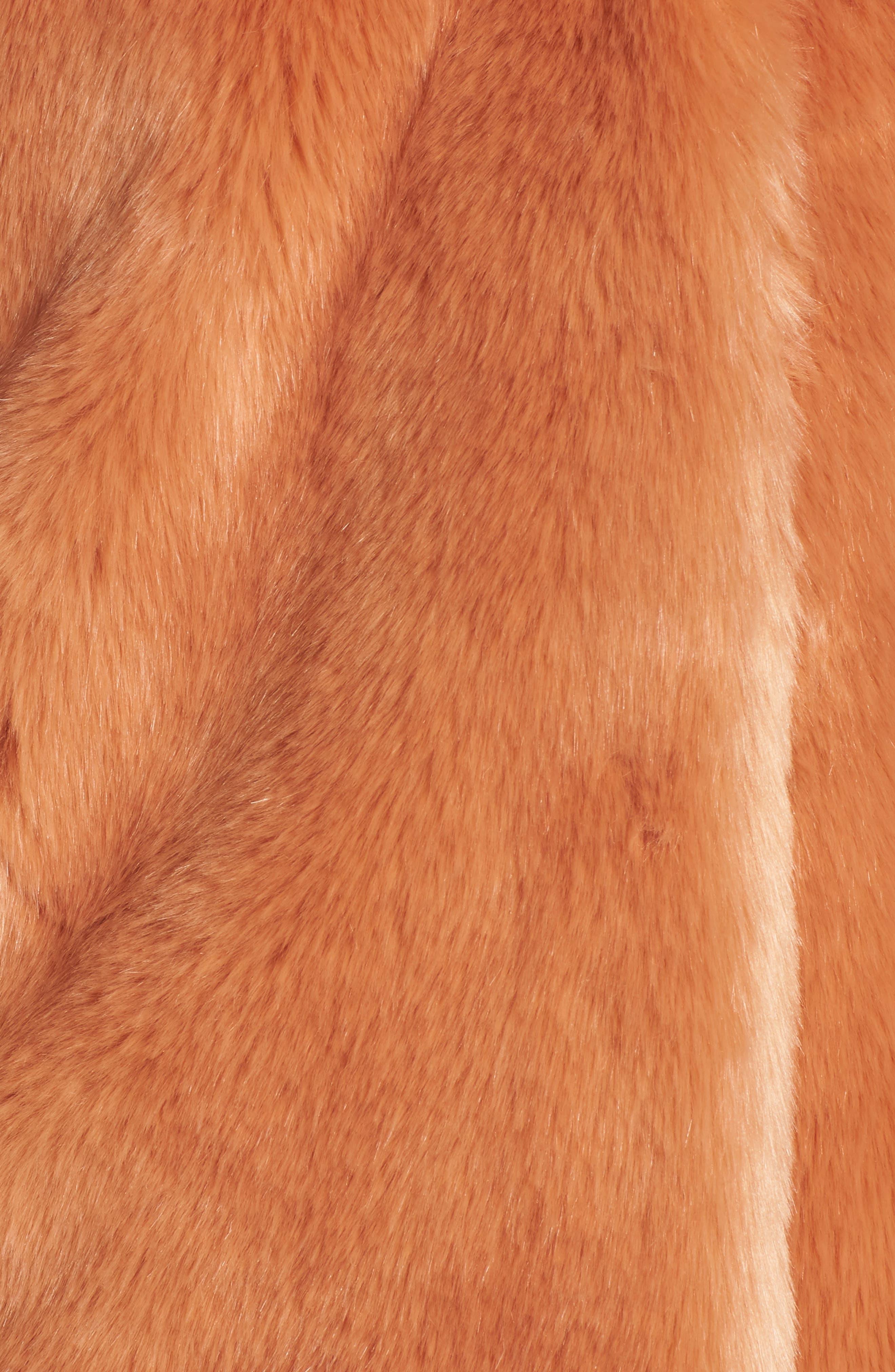 AVEC LES FILLES,                             Notch Collar Faux Fur Coat,                             Alternate thumbnail 7, color,                             669