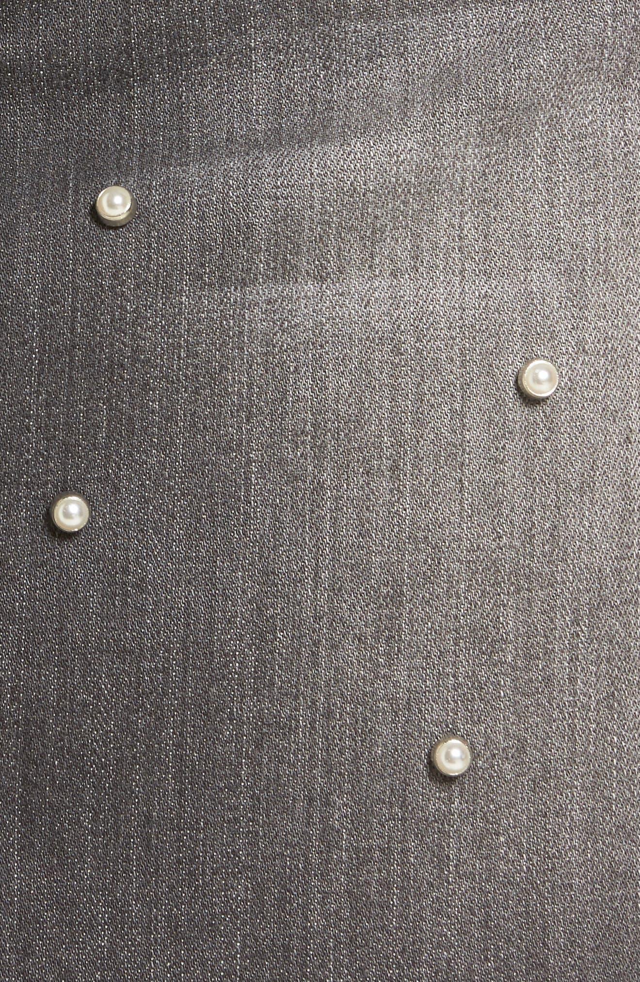 Imitation Pearl Detail Skirt,                             Alternate thumbnail 5, color,                             020