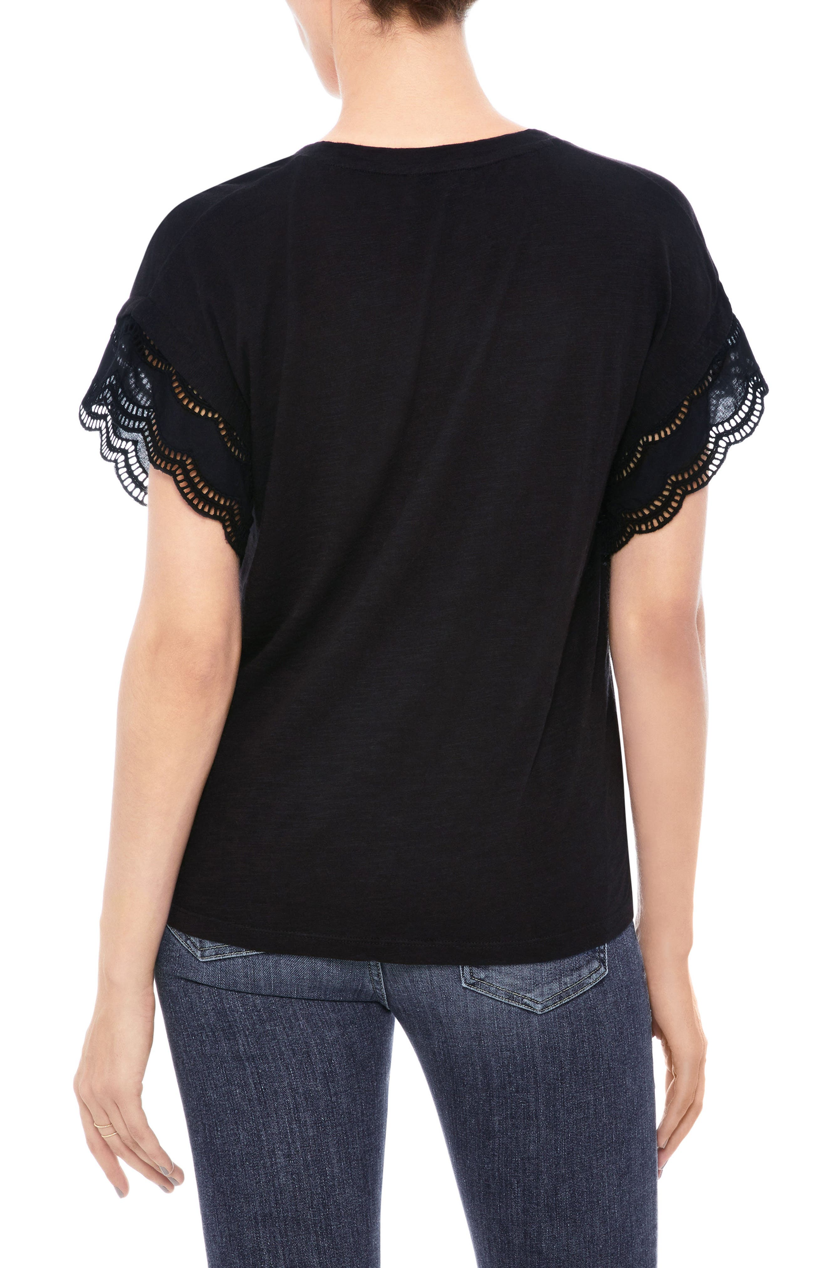 Millie Eyelet Trim Tee,                             Alternate thumbnail 2, color,