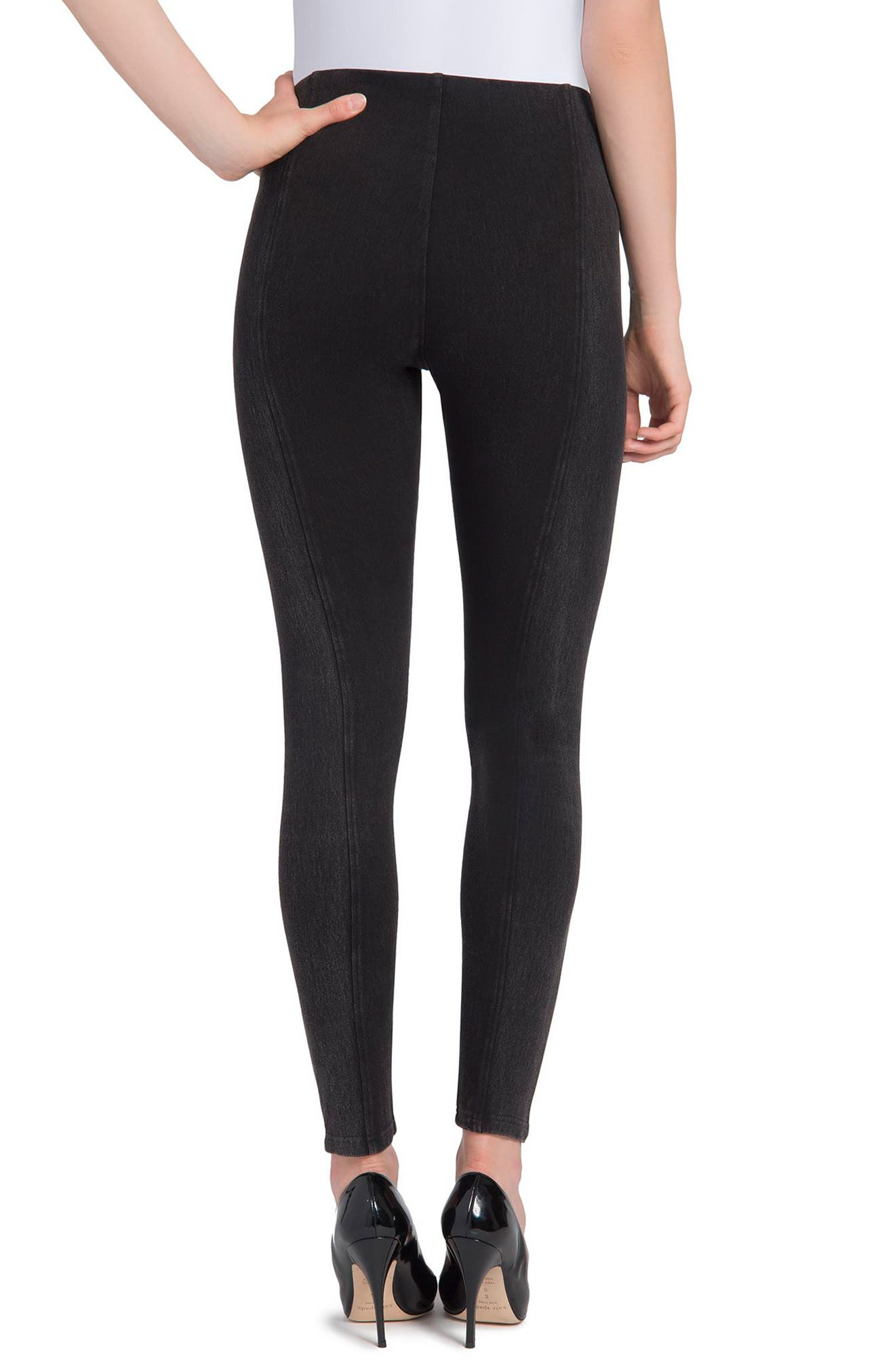 Marley Denim Leggings,                             Alternate thumbnail 3, color,