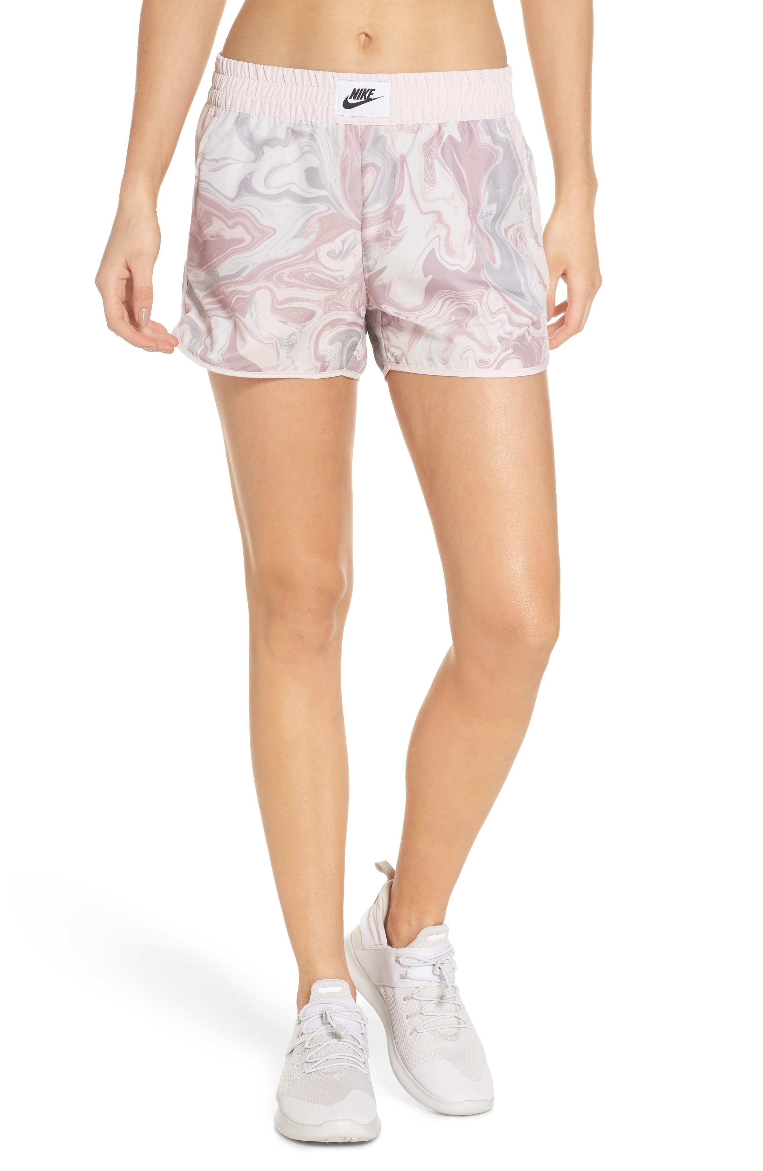 Sportswear Woven Shorts,                         Main,                         color, ELEMENTAL ROSE/ BARELY ROSE