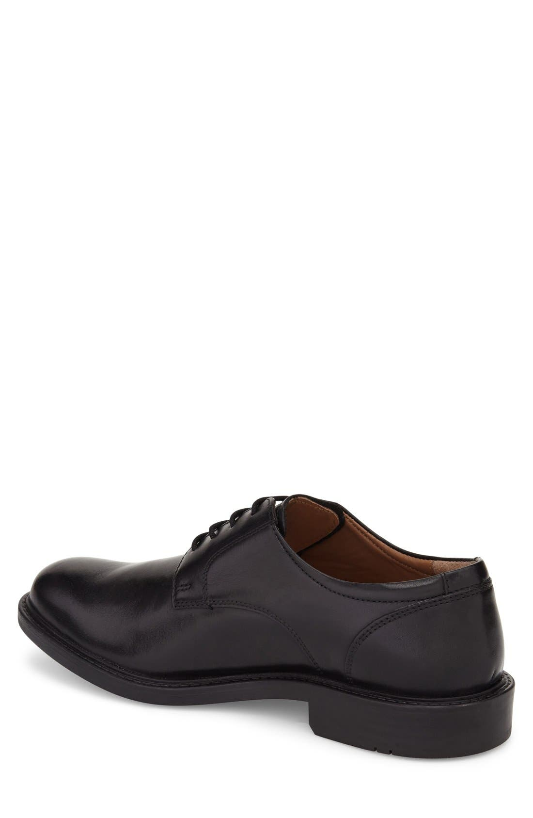 Tabor Plain Toe Derby,                             Alternate thumbnail 3, color,                             BLACK LEATHER