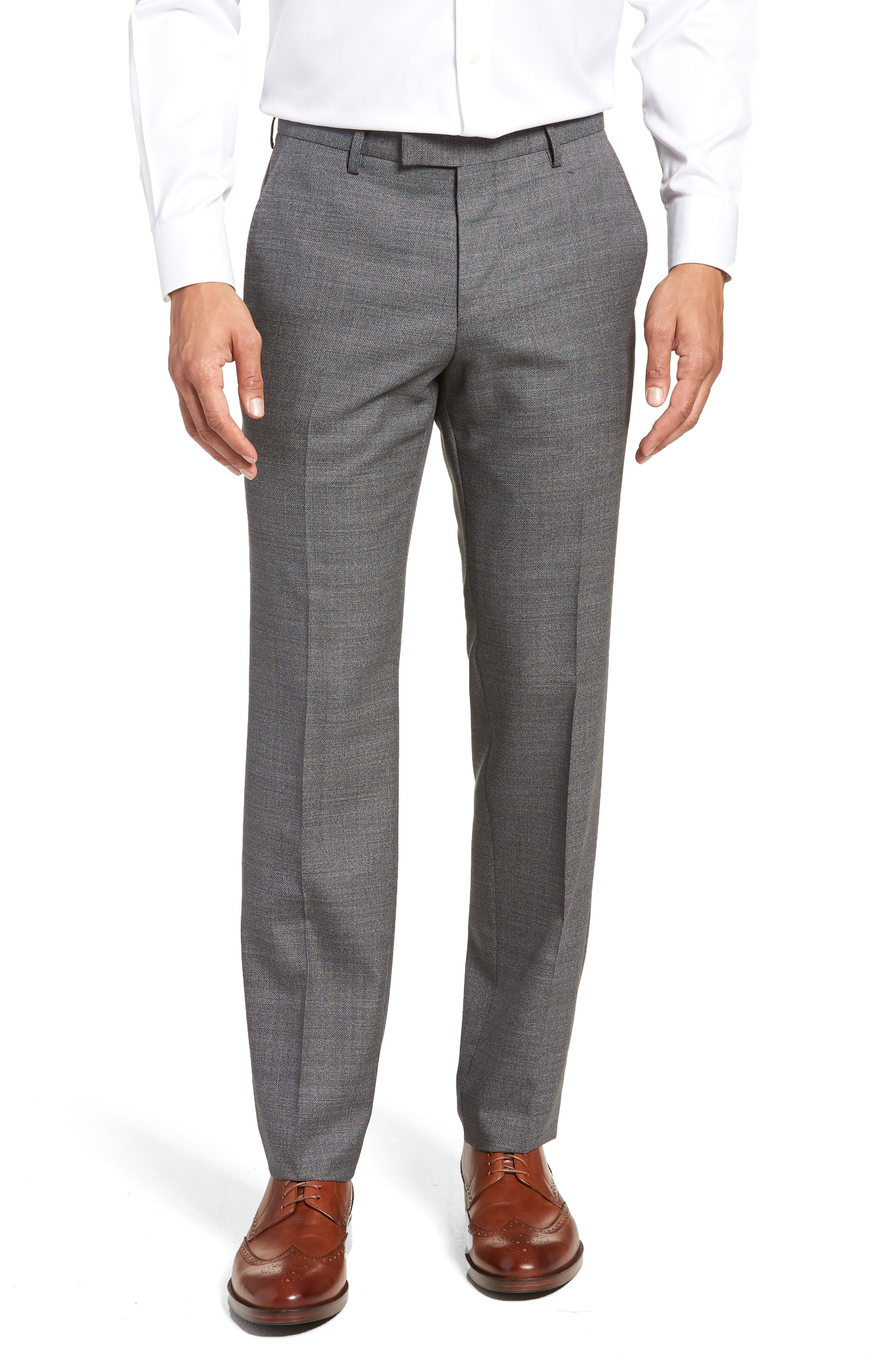 Johnstons/Lenon Classic Fit Solid Wool Suit,                             Alternate thumbnail 6, color,                             020