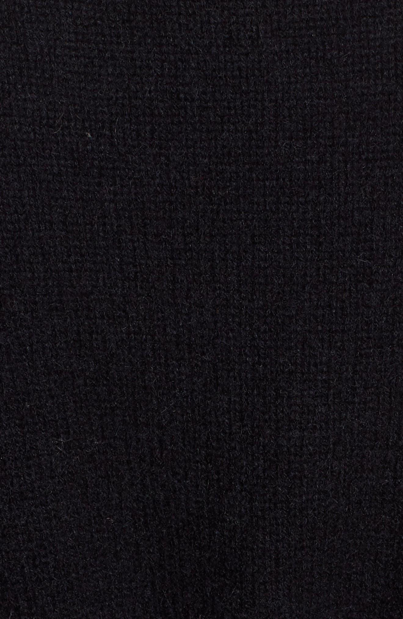 Belted Cashmere Kimono,                             Alternate thumbnail 5, color,                             001