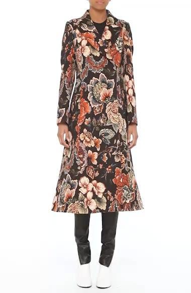 Floral Tapestry Long Coat, video thumbnail