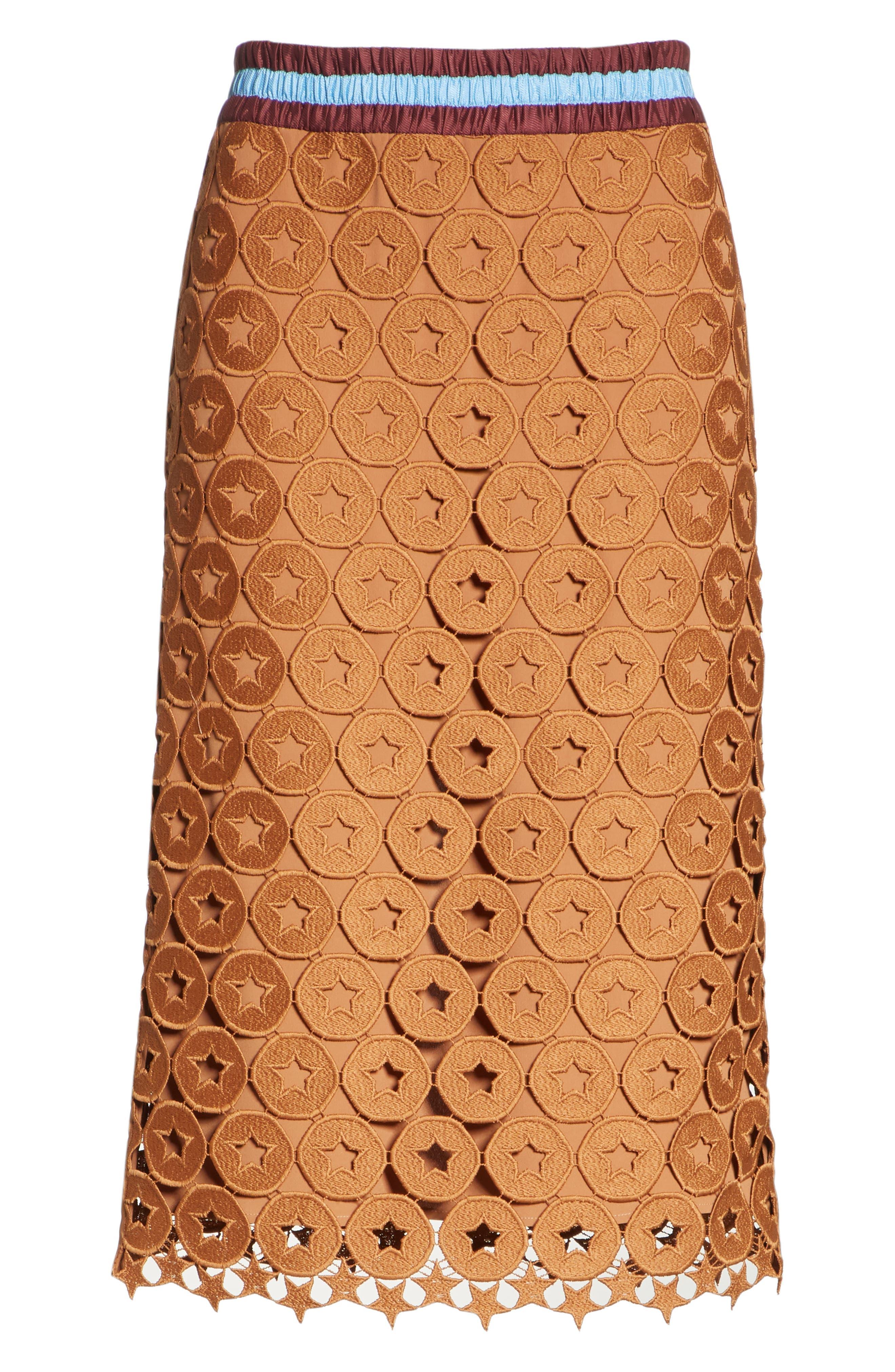 N°21,                             Lace Skirt,                             Alternate thumbnail 6, color,                             200
