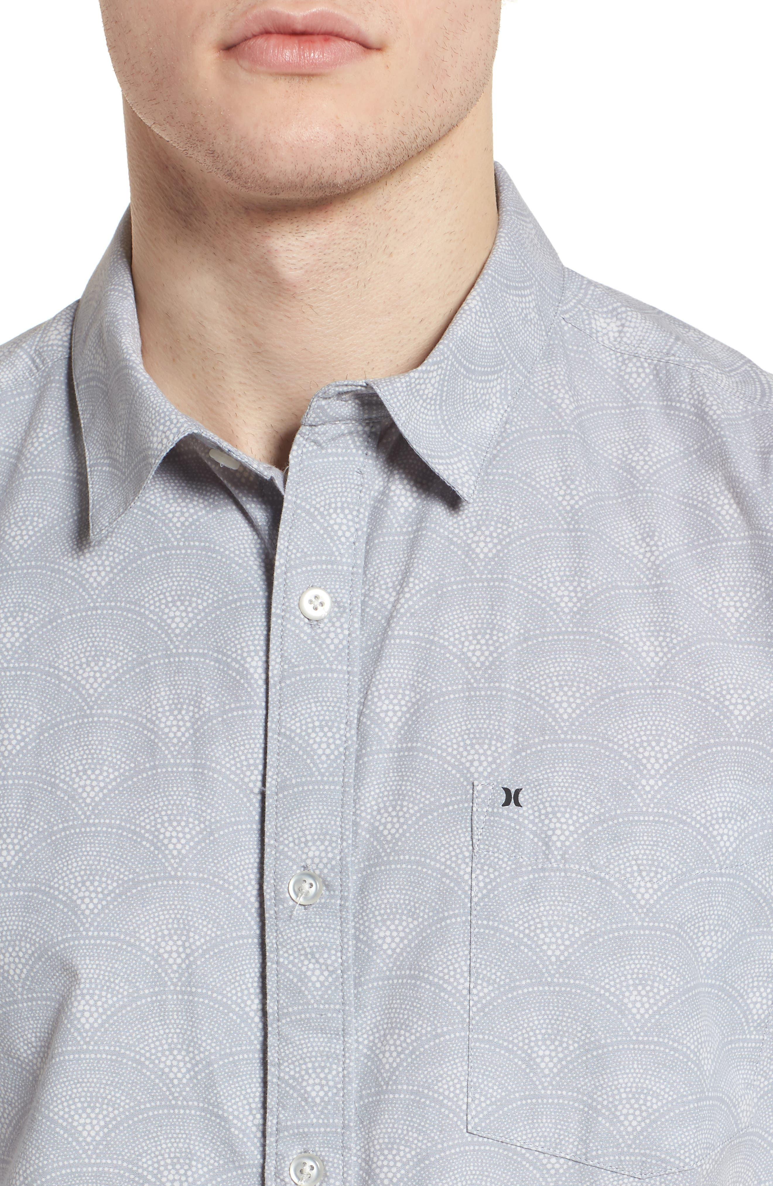 Pescado Short Sleeve Oxford Shirt,                             Alternate thumbnail 4, color,                             LIGHT PUMICE