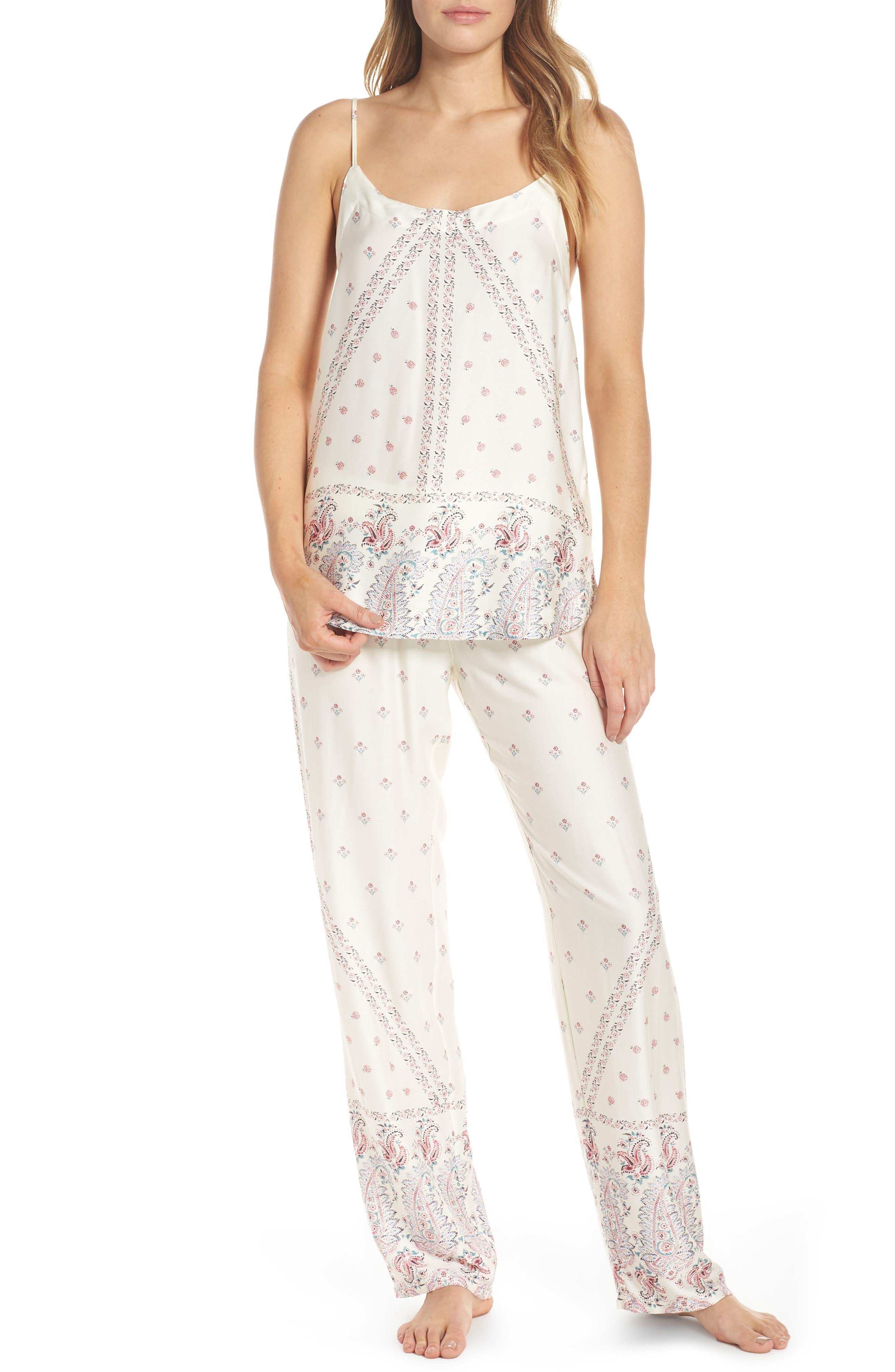 Paisley Park Pajama Pants,                             Alternate thumbnail 7, color,                             ANTIQUE WHITE