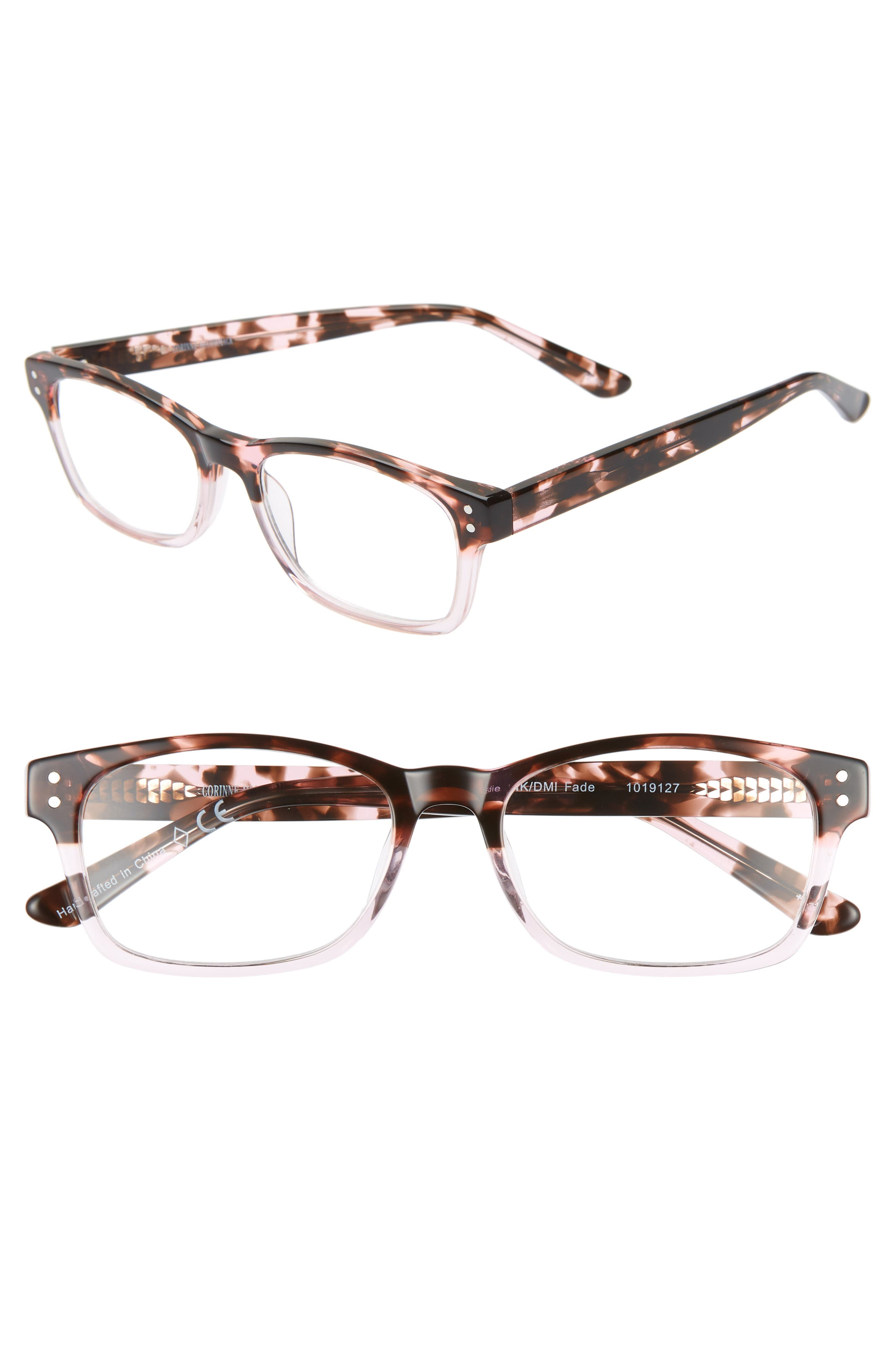 CORINNE MCCORMACK Edie 52Mm Reading Glasses in Pink Demi Fade