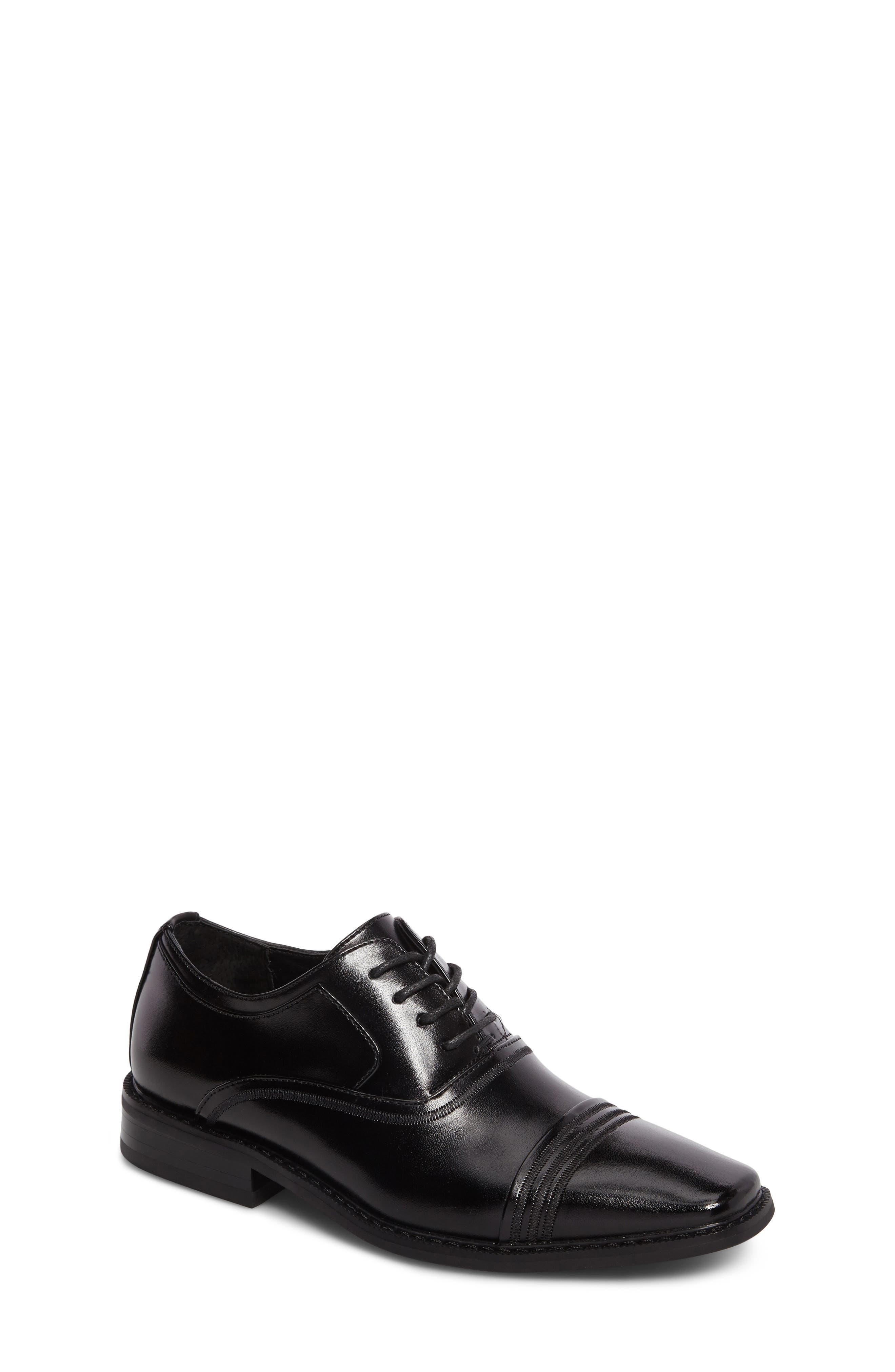 Bingham Cap Toe Oxford,                         Main,                         color, BLACK